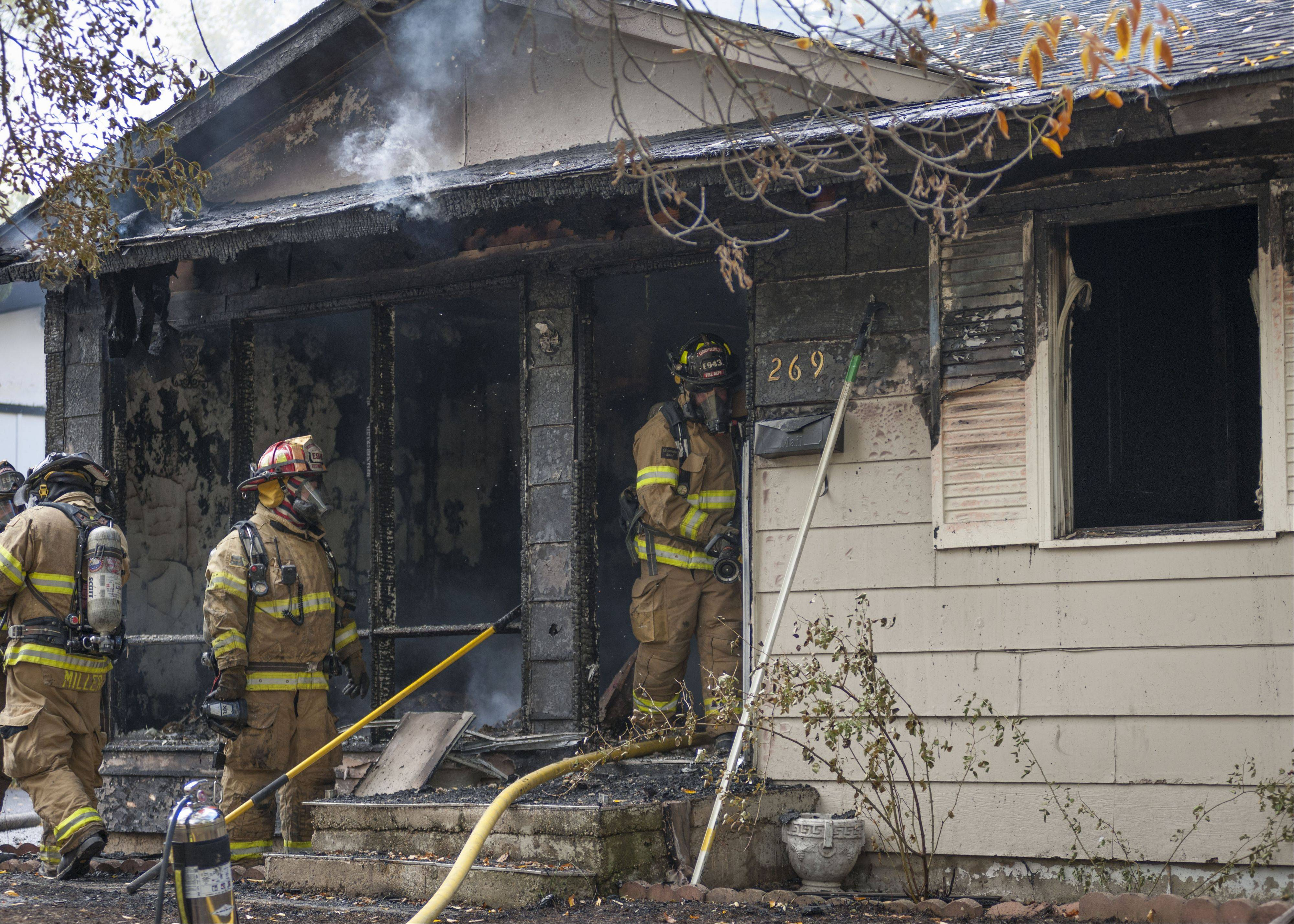 Fire destroyed a home Thursday morning on the 200 block of Riverview Drive in Carpentersville.