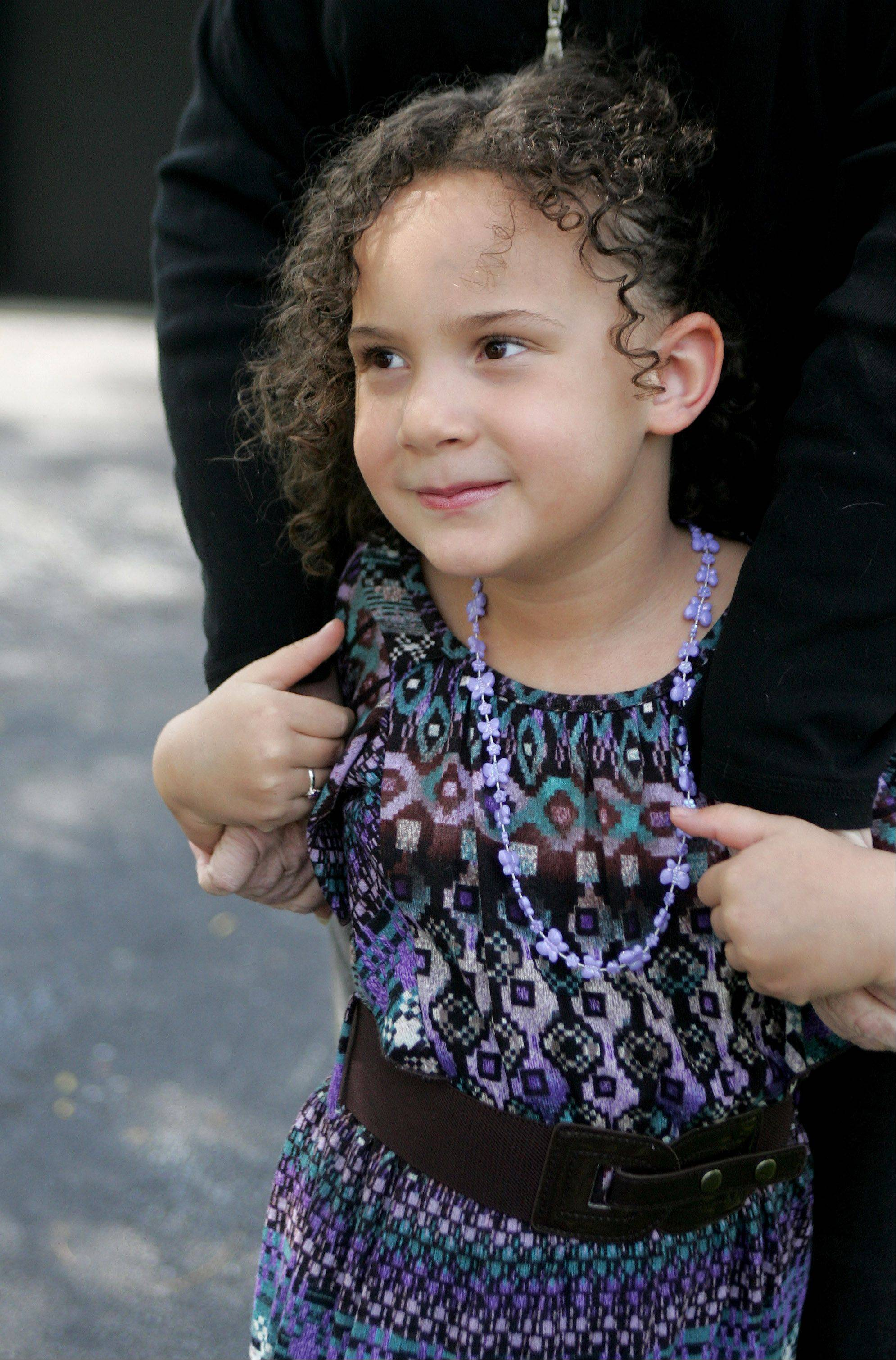 Livia Jensen, 4, helped save her mom Diana last Sunday by calling 911.
