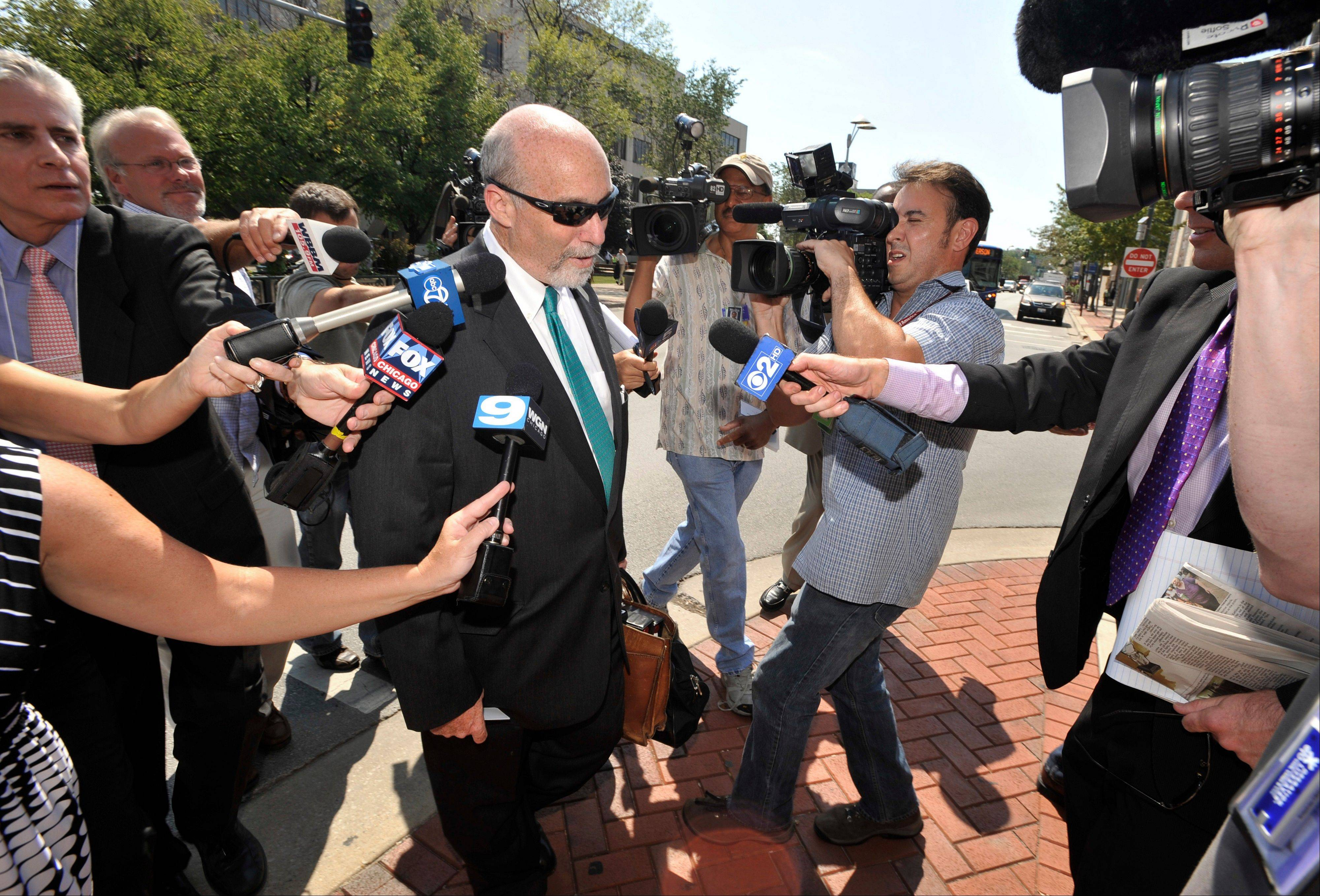 As one of the colorful Drew Peterson defense attorneys who got plenty of TV time outside the courtroom, would Joel Brodsky have acted differently if there had been a TV camera inside the courtroom?