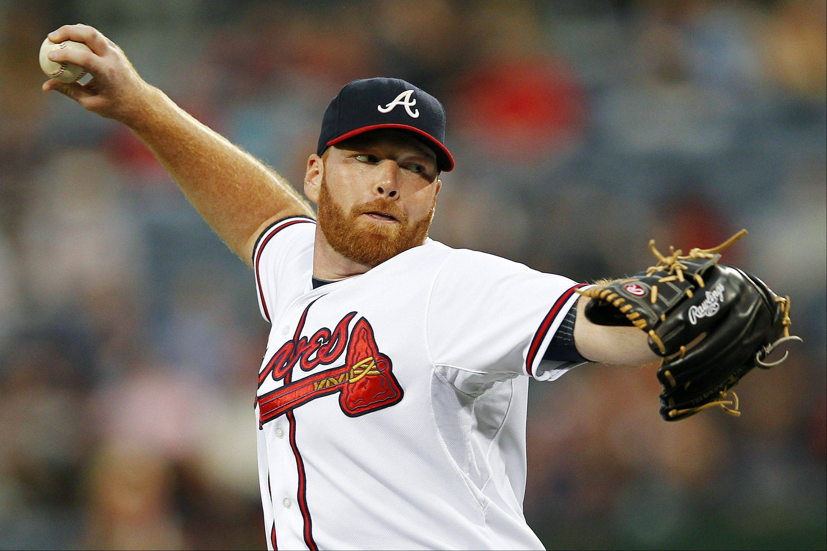 Atlanta Braves starting pitcher Tommy Hanson struck out four and walked two Thursday night at home against Miami.