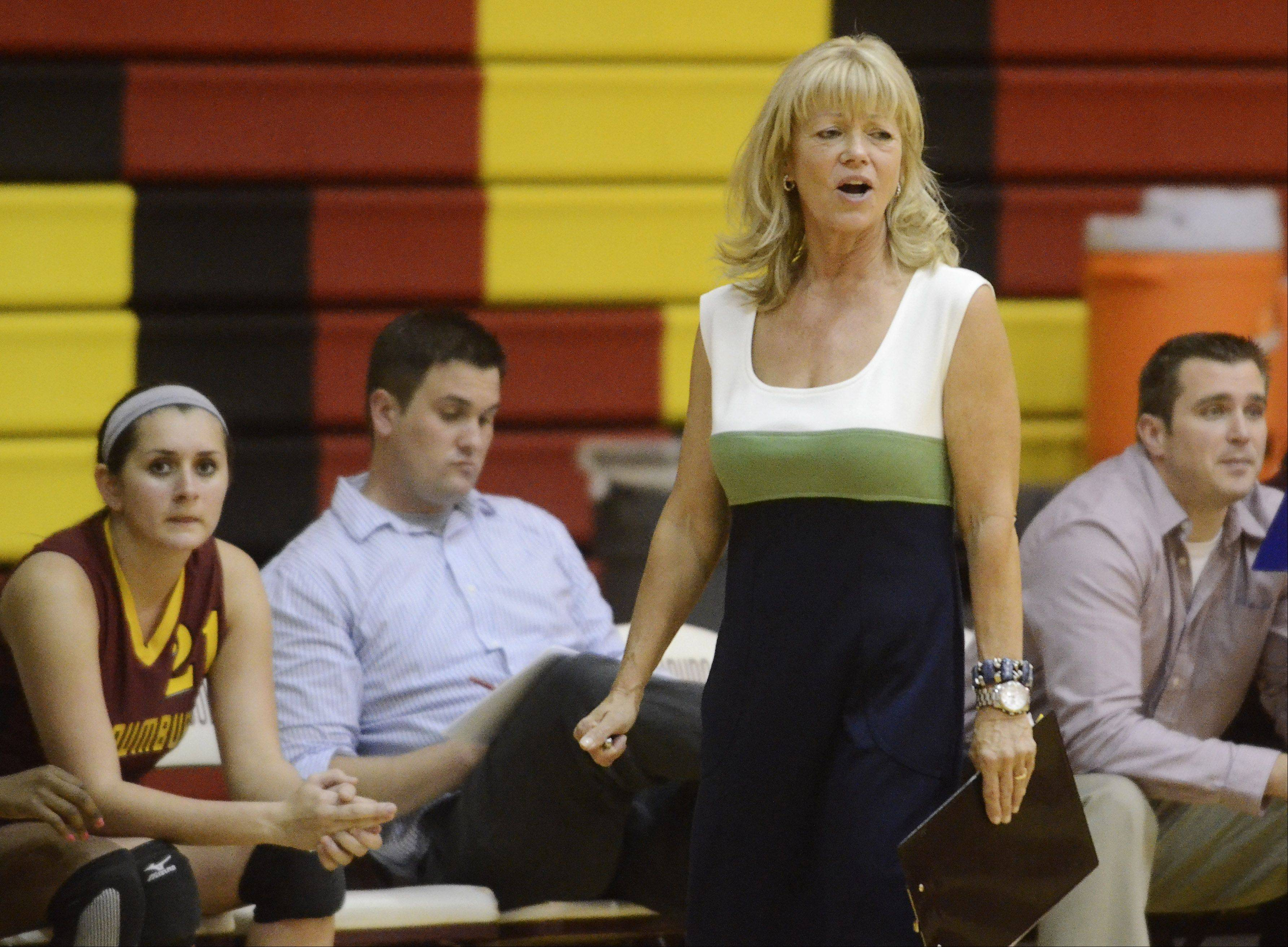 Schaumburg girls volleyball coach Jeanette Pancratz.