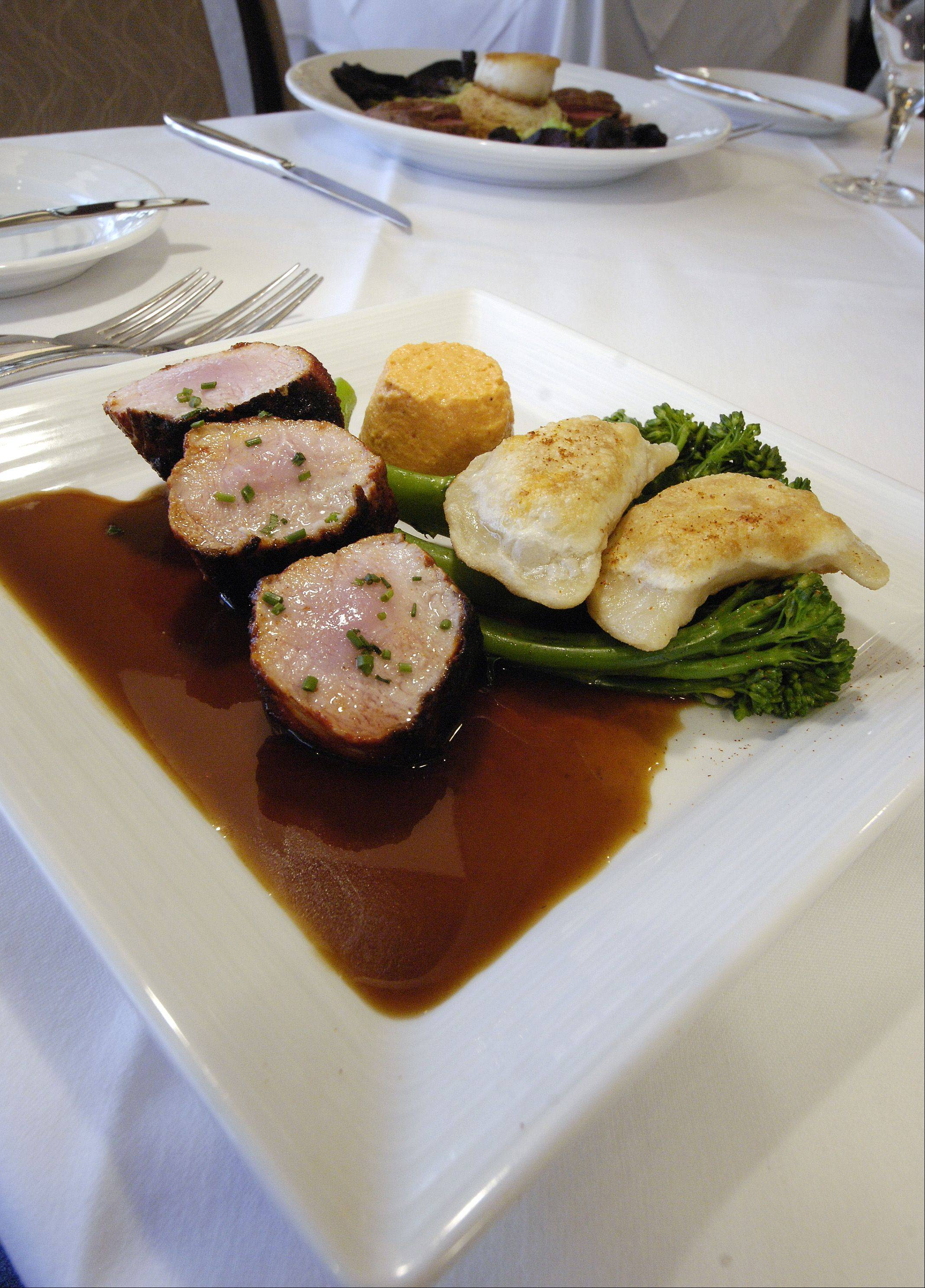 Veal is a seasonal favorite at Waterleaf restaurant at the College of DuPage's culinary center.