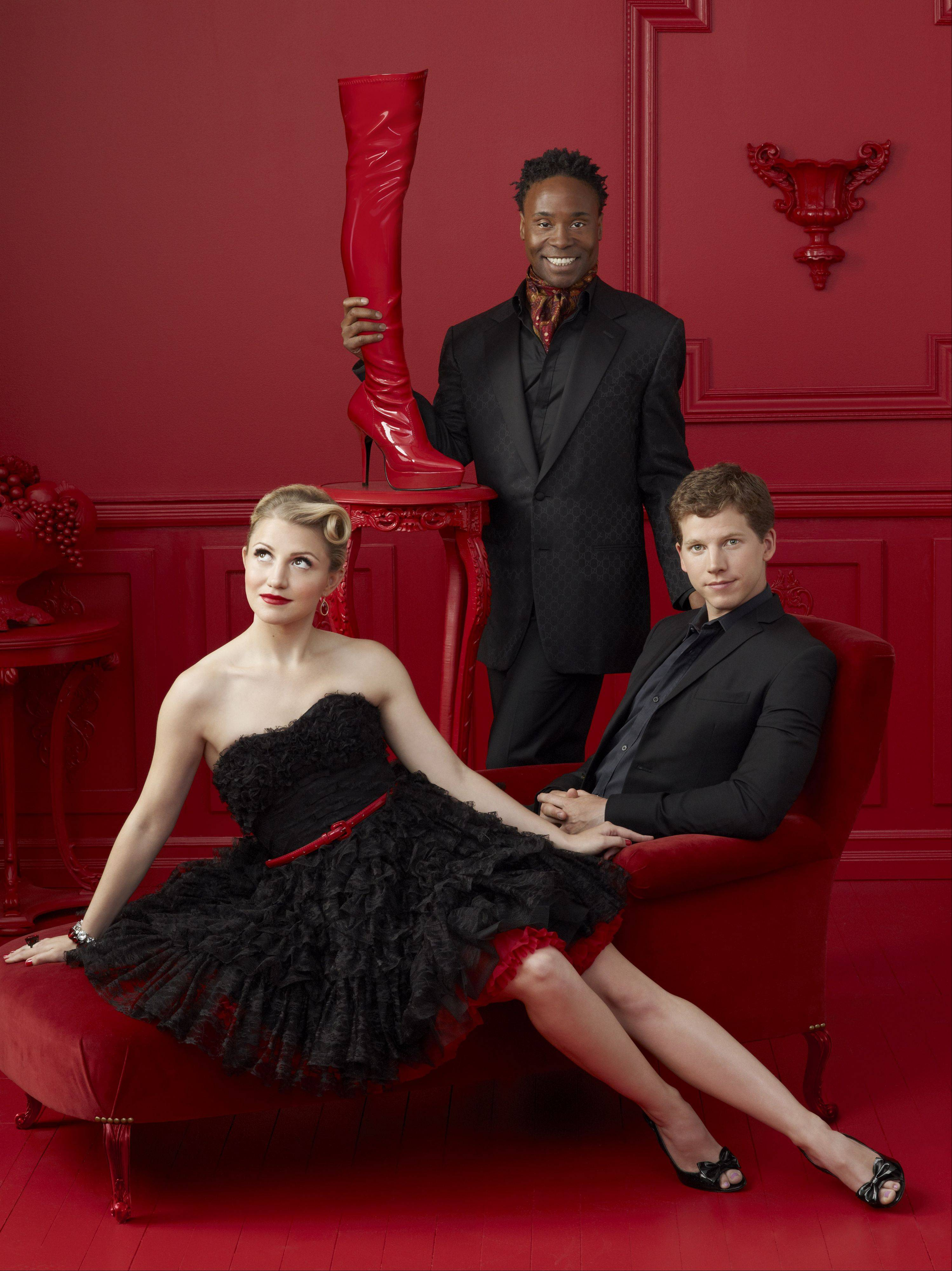 "The leading actors of the pre-Broadway world premiere tryout of the new musical ""Kinky Boots"" include Annaleigh Ashford, Billy Porter (standing) and Stark Sands."