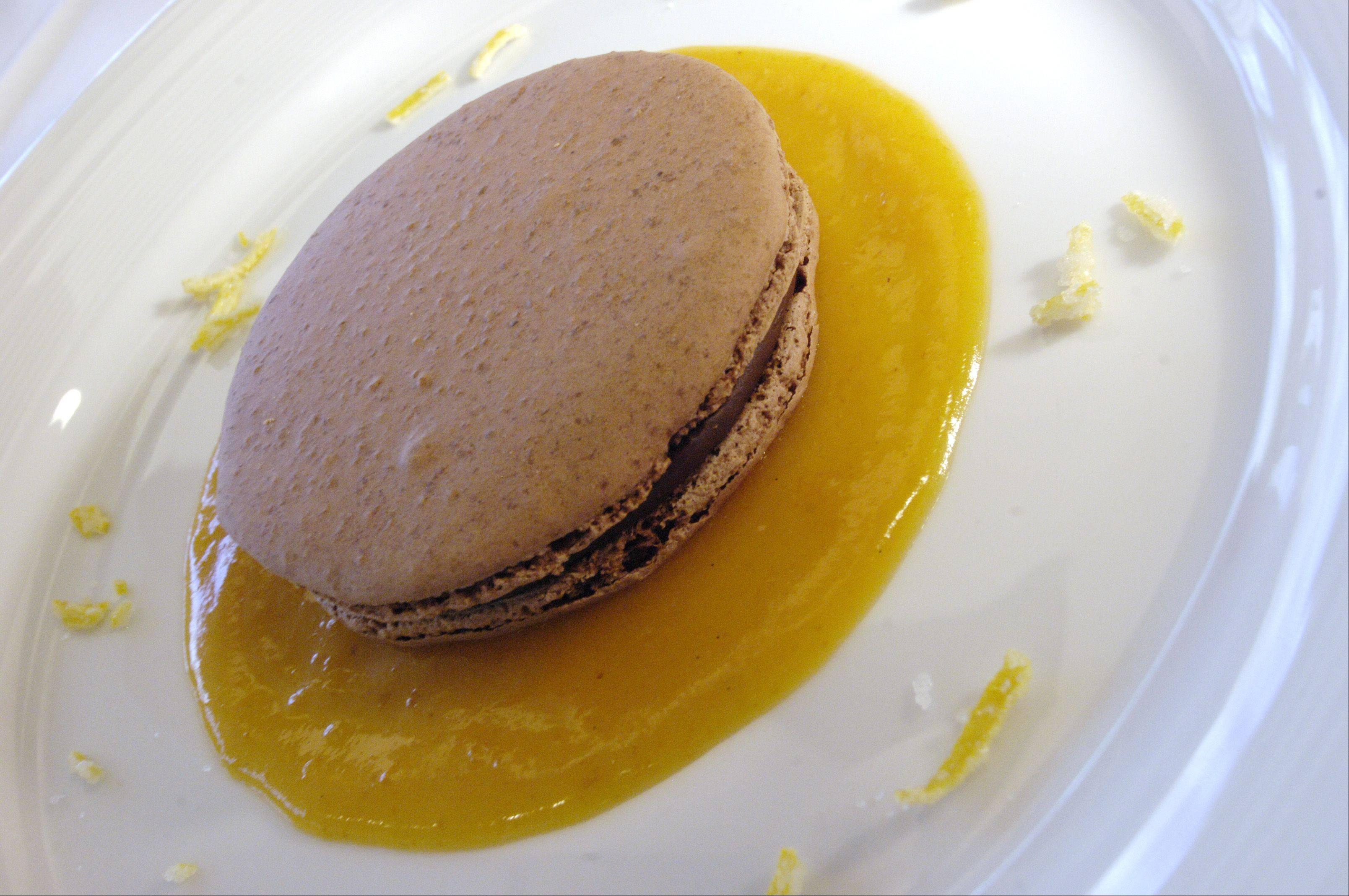 Cap off dinner with creme brulee or a macaroon from the Waterleaf restaurant in Glen Ellyn.