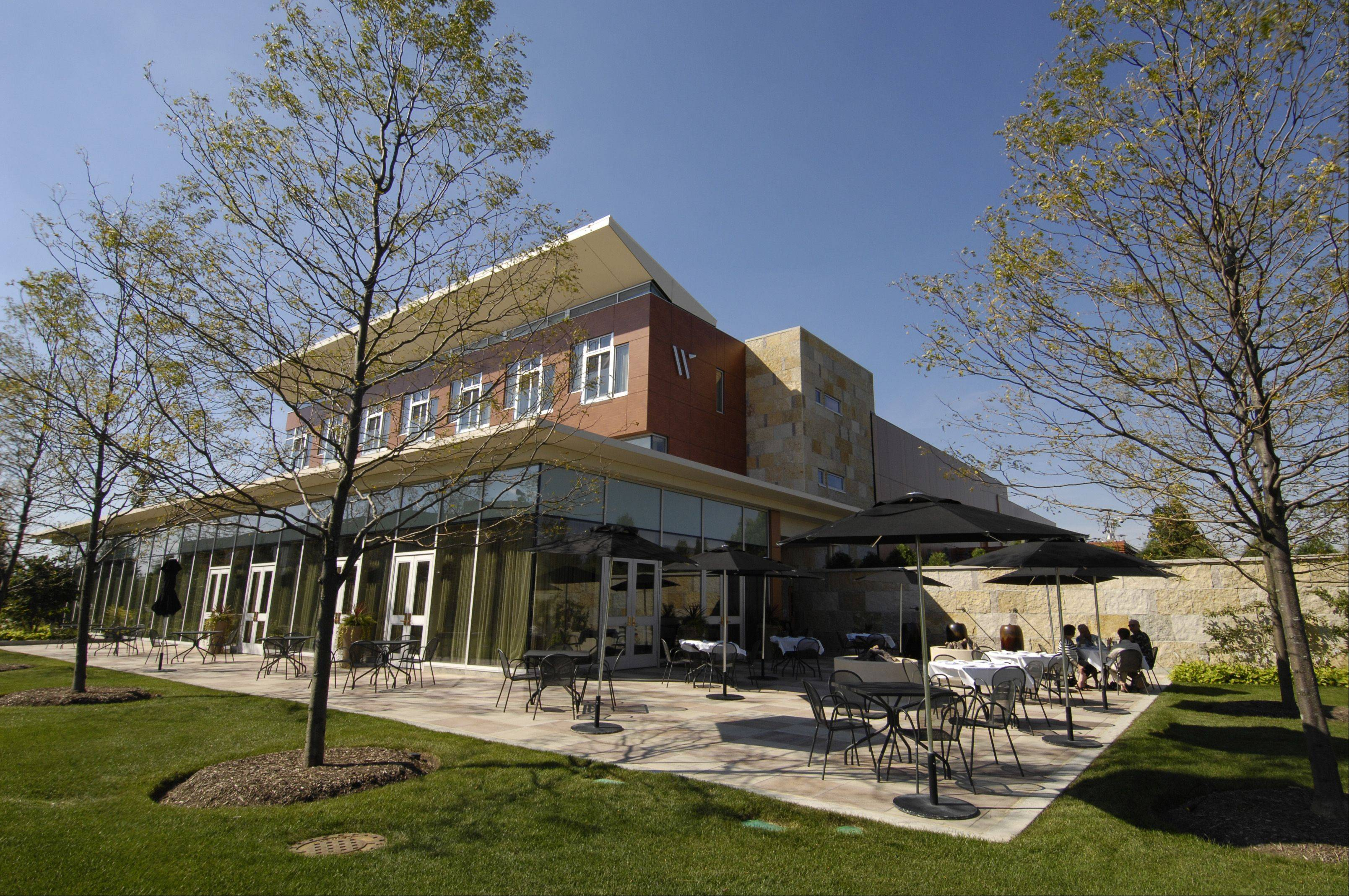 The patio at Waterleaf at the College of DuPage's culinary center is a beautiful spot for al fresco dining.