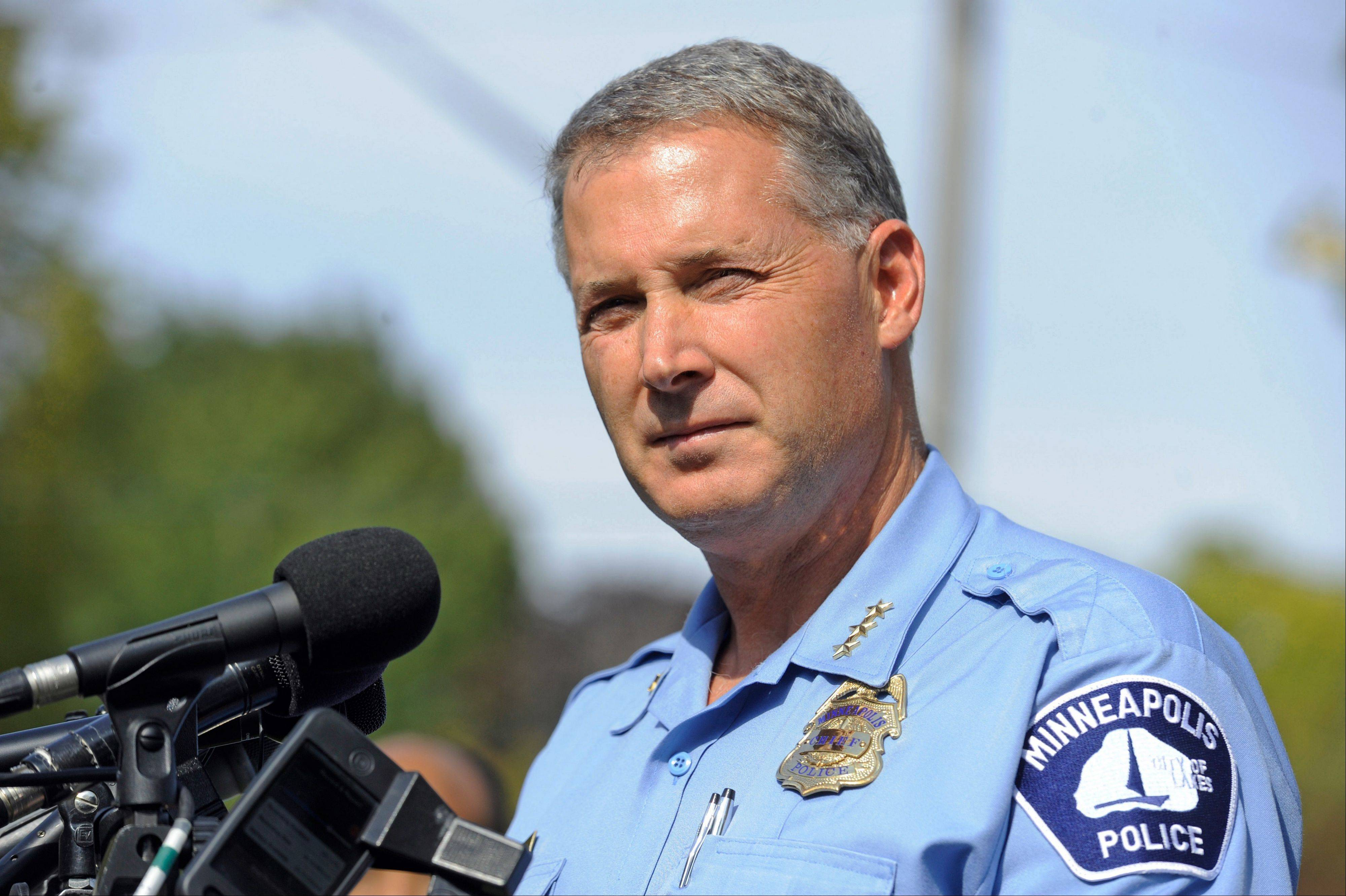 Associated PressMinneapolis Police Chief Tim Dolan speaks Friday during a news conference at a church near the scene of a mass shooting at Accent Signage Systems. Reuven Rahamim, 61, the owner of Accent Signage Systems was among those killed.