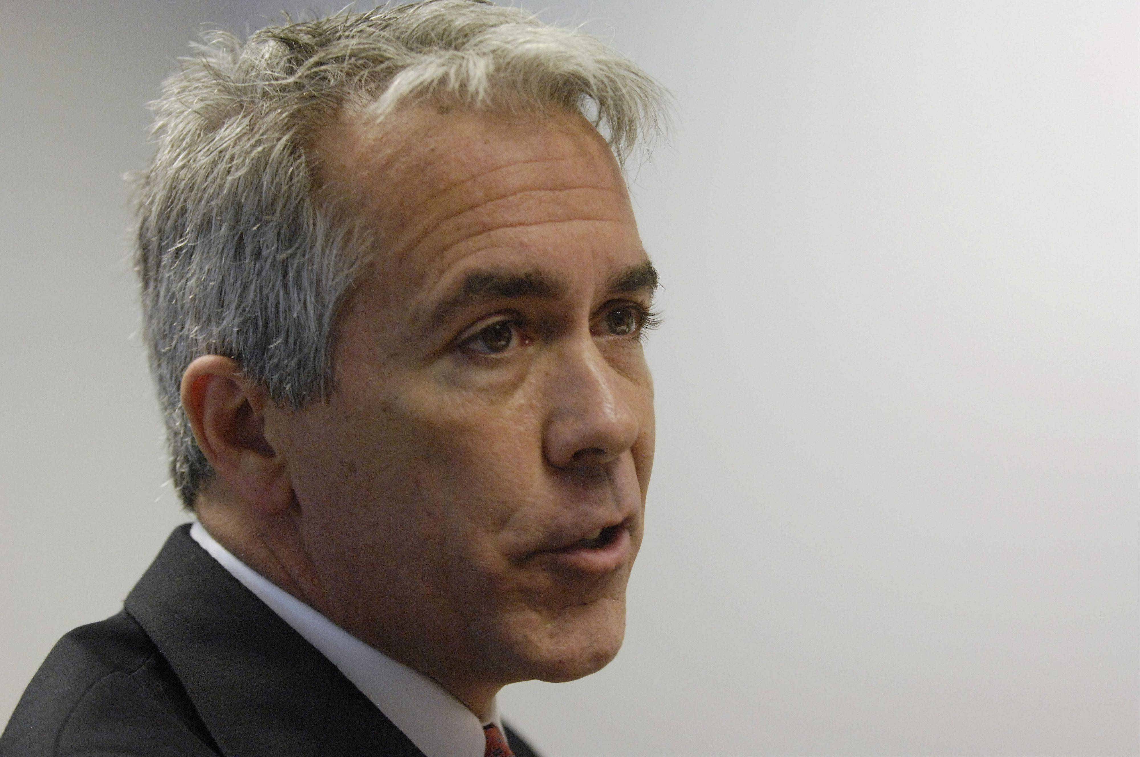 Congressman Joe Walsh, running in the new 8th District, speaks during an endorsement interview with the Daily Herald.
