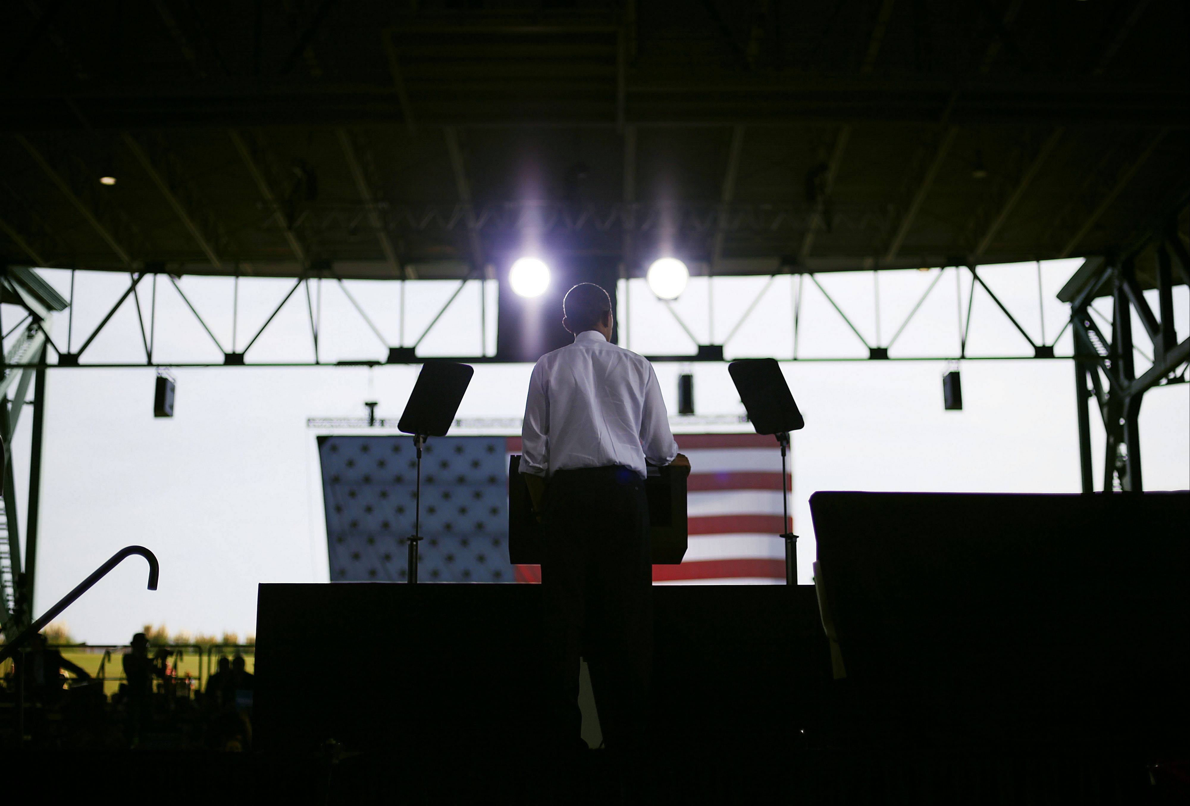 President Barack Obama speaks at a campaign event Thursday at Farm Bureau Live in Virginia Beach, Va.