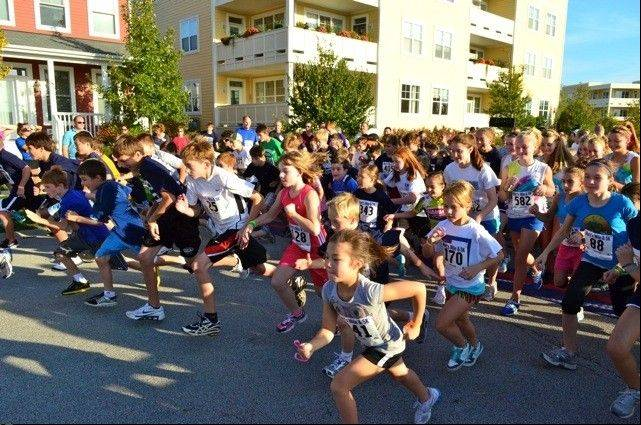 Runners cross the starting line for Matt's Mile. This year's 5K Run/Walk will take place at 5 p.m. Friday, Oct. 5, in the Prairie Crossing subdivision.