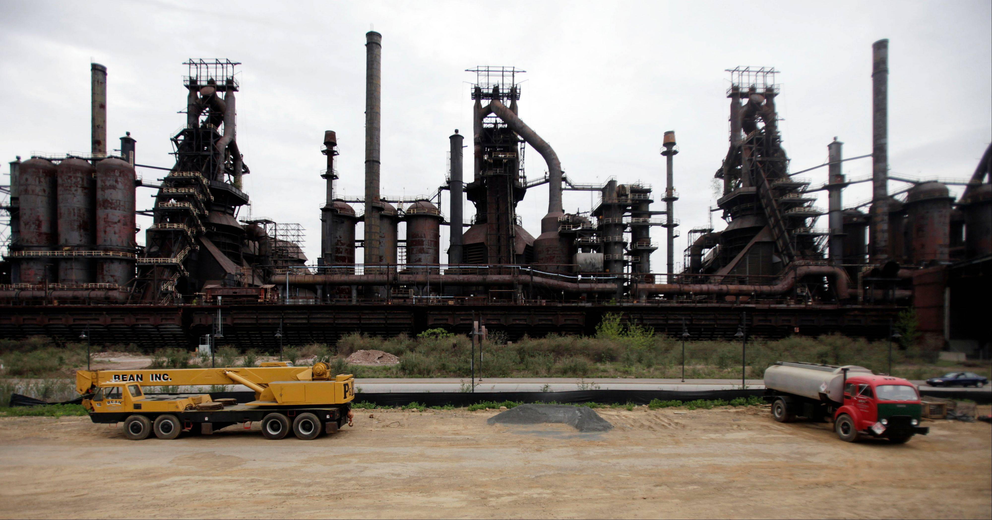 Associated Press/April 30, 2009 Blast furnaces from the historic Bethlehem Steel plant in Bethlehem, Pa. Las Vegas Sands Corporation's Sands Casino Resort Bethlehem is located on a portion the former site of the Bethlehem Steel plant.