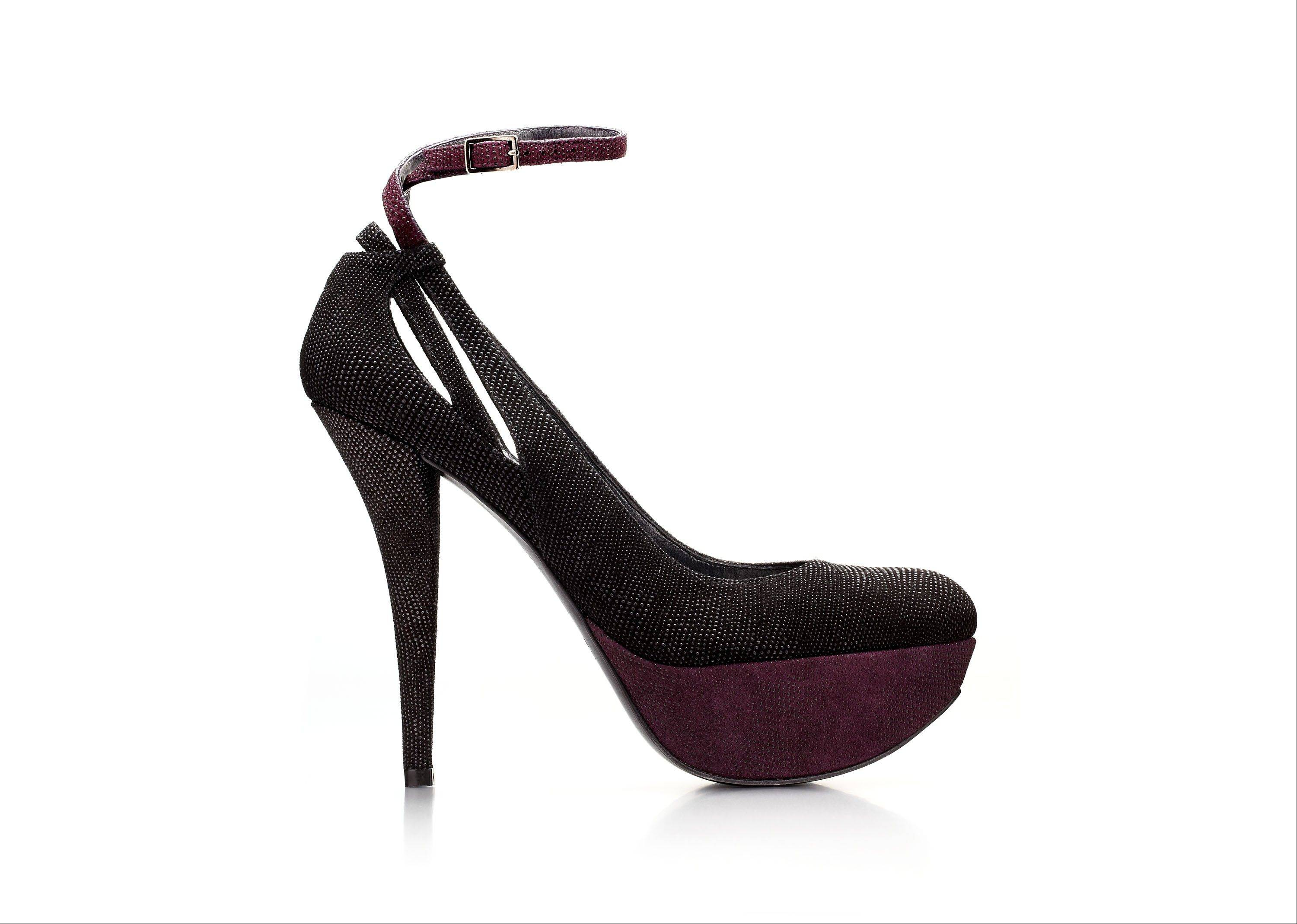 This goose-bump calfskin Stuart Weitzman pump was codesigned by actress Nikki Reed.