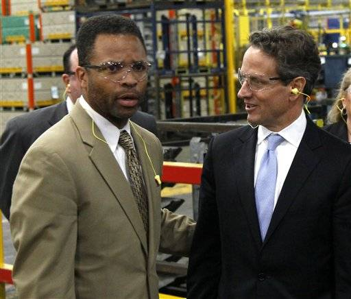 Rep Jesse Jackson Jr., D-Ill. tours the Ford Motor Company Stamping Plant in Chicago Heights last April. With the November election only five weeks away, Jackson's absence from work and the campaign trail is testing patience in Chicago. His GOP opponent is now criticizing him for it after pledging not to. Friendly editorial writers are now urging he come forward and finally explain himself.