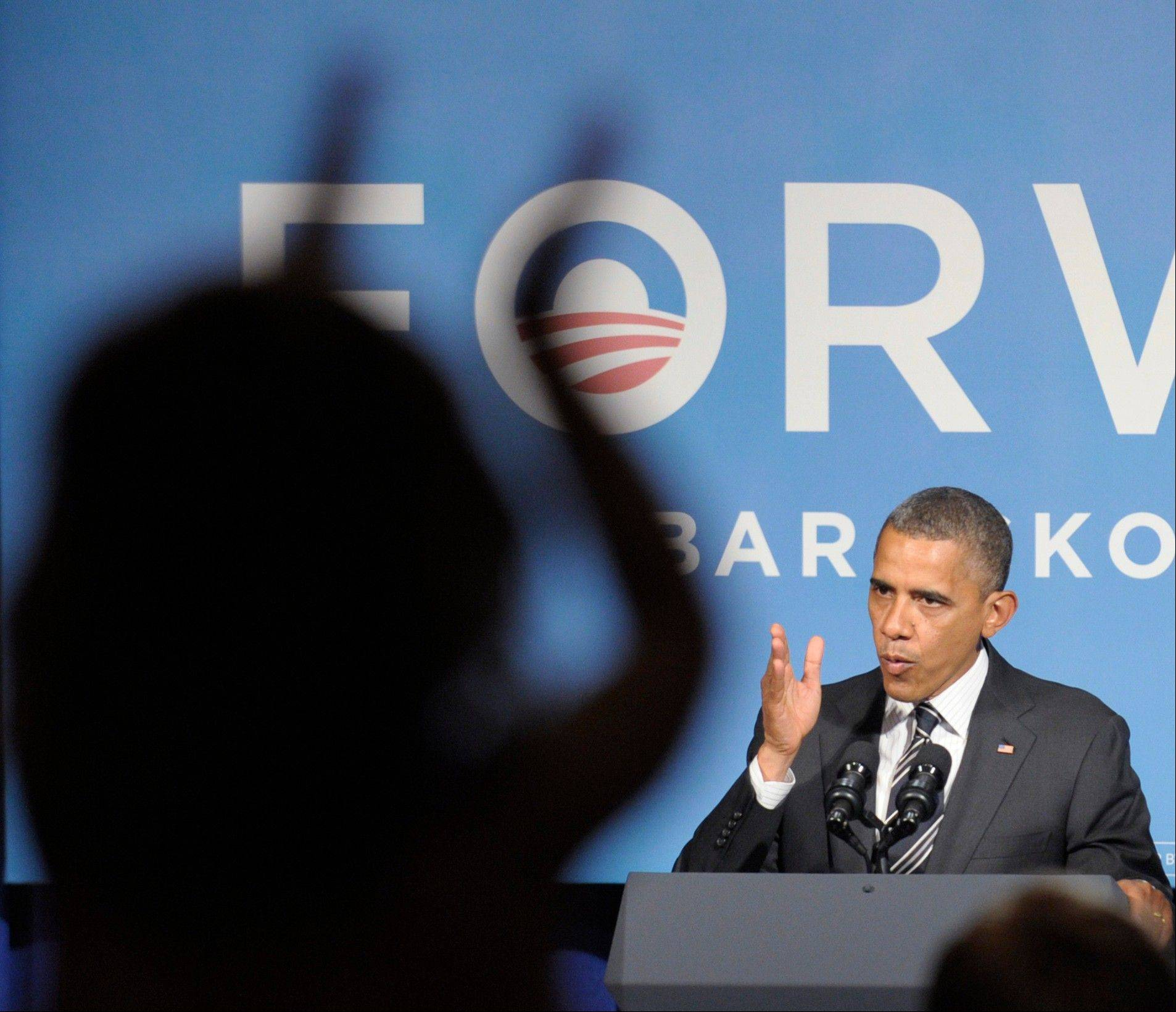 President Barack Obama speaks Friday at a campaign event in Washington.