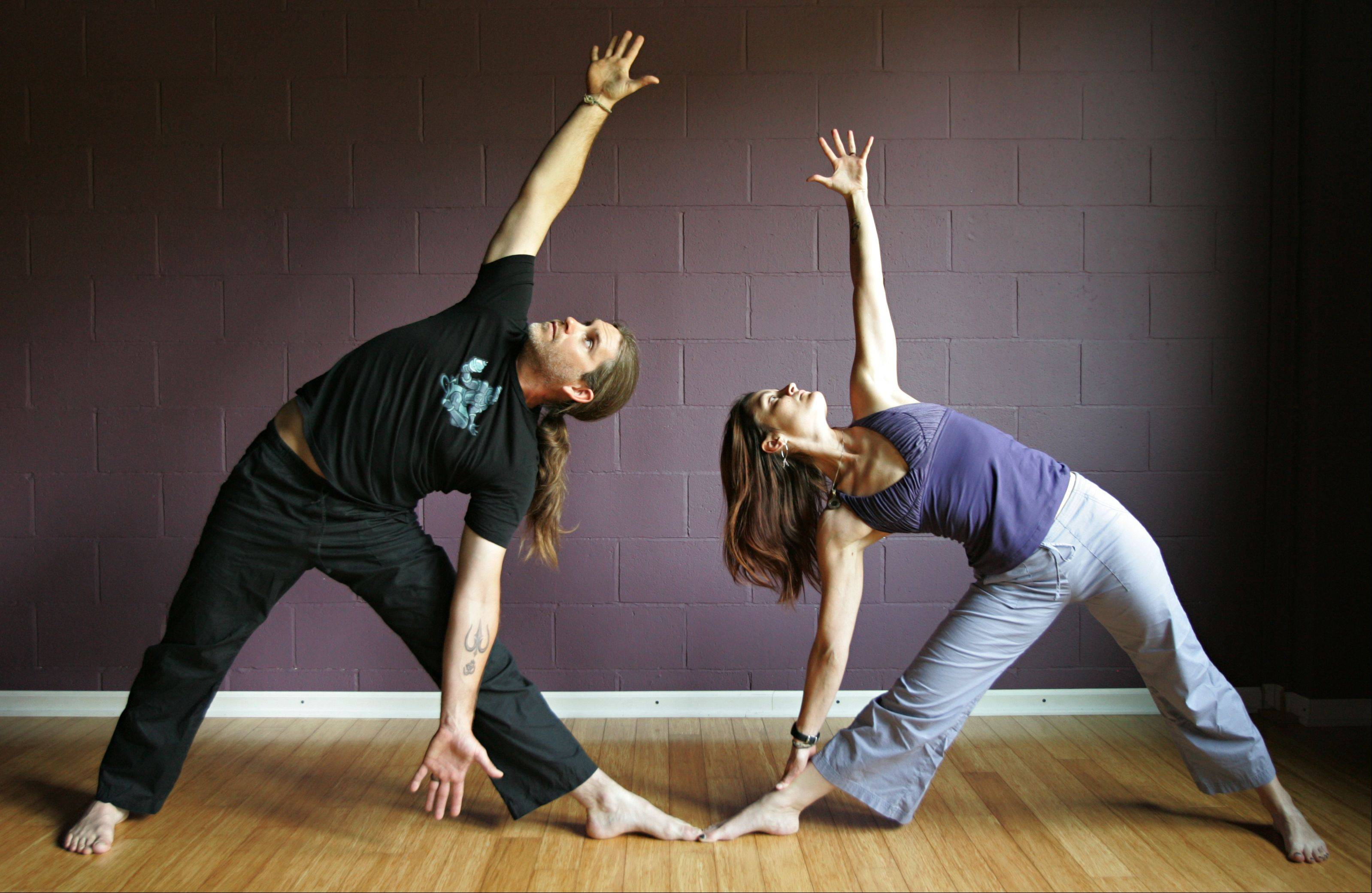 Jimmy and Lori Glazebrook at the Prana Yoga Center.