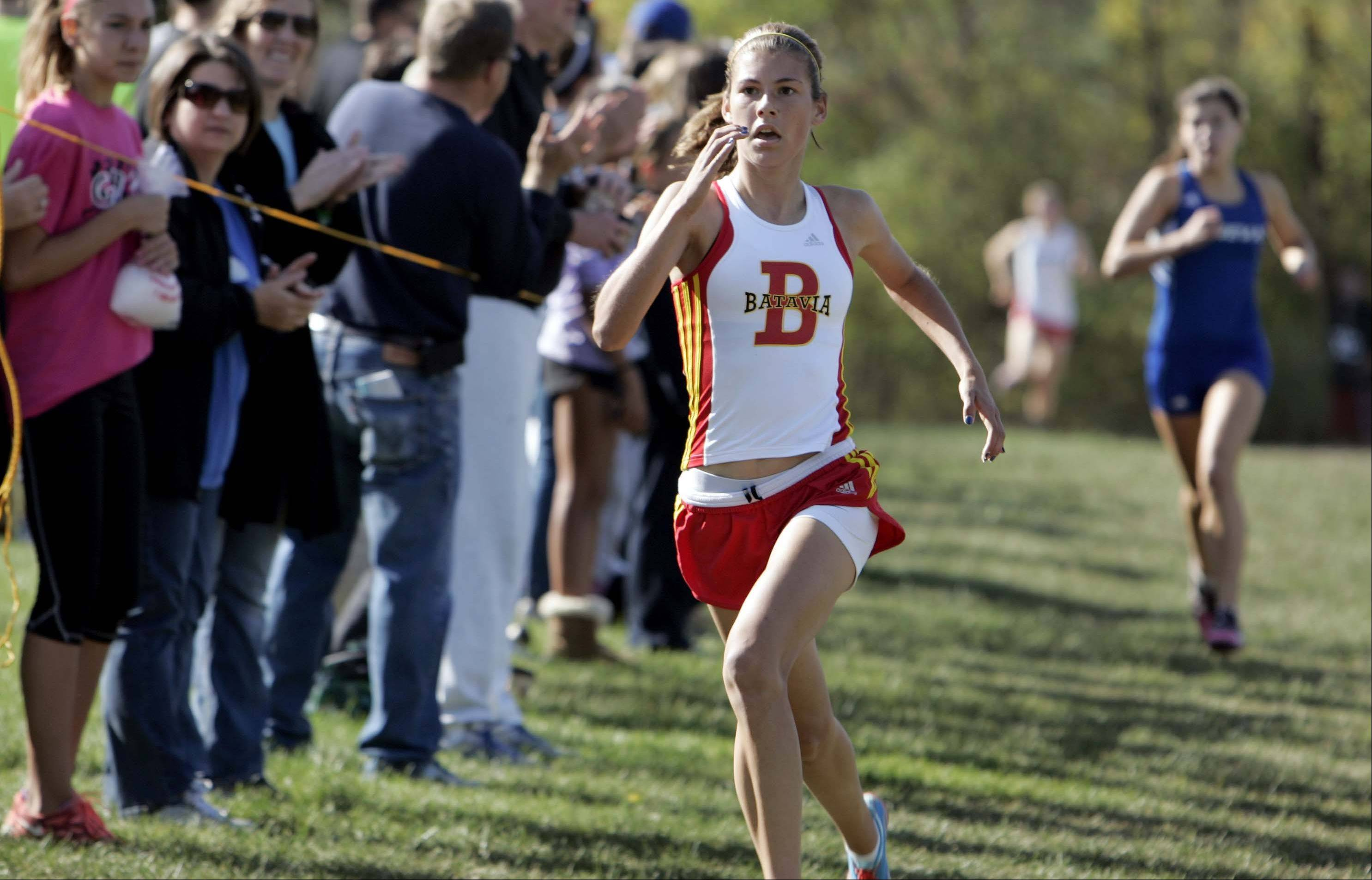 Batavia's Lexi Slome finished seventh and Geneva's Kathryn Adelman eighth.