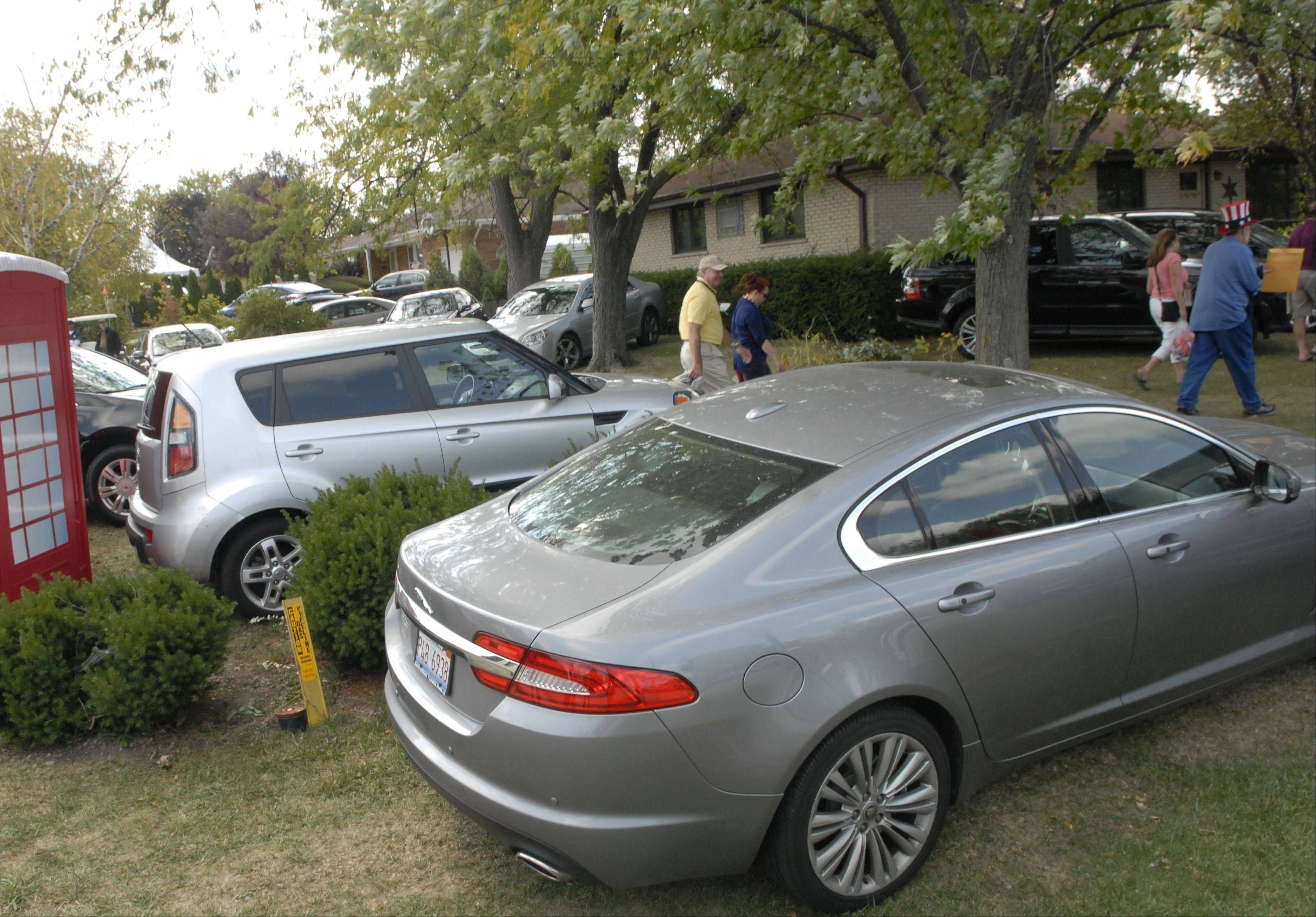 Many homeowners along Medinah Road turned their yards into parking lots for easy access to the Ryder Cup course, and are charging roughly $20 per day.