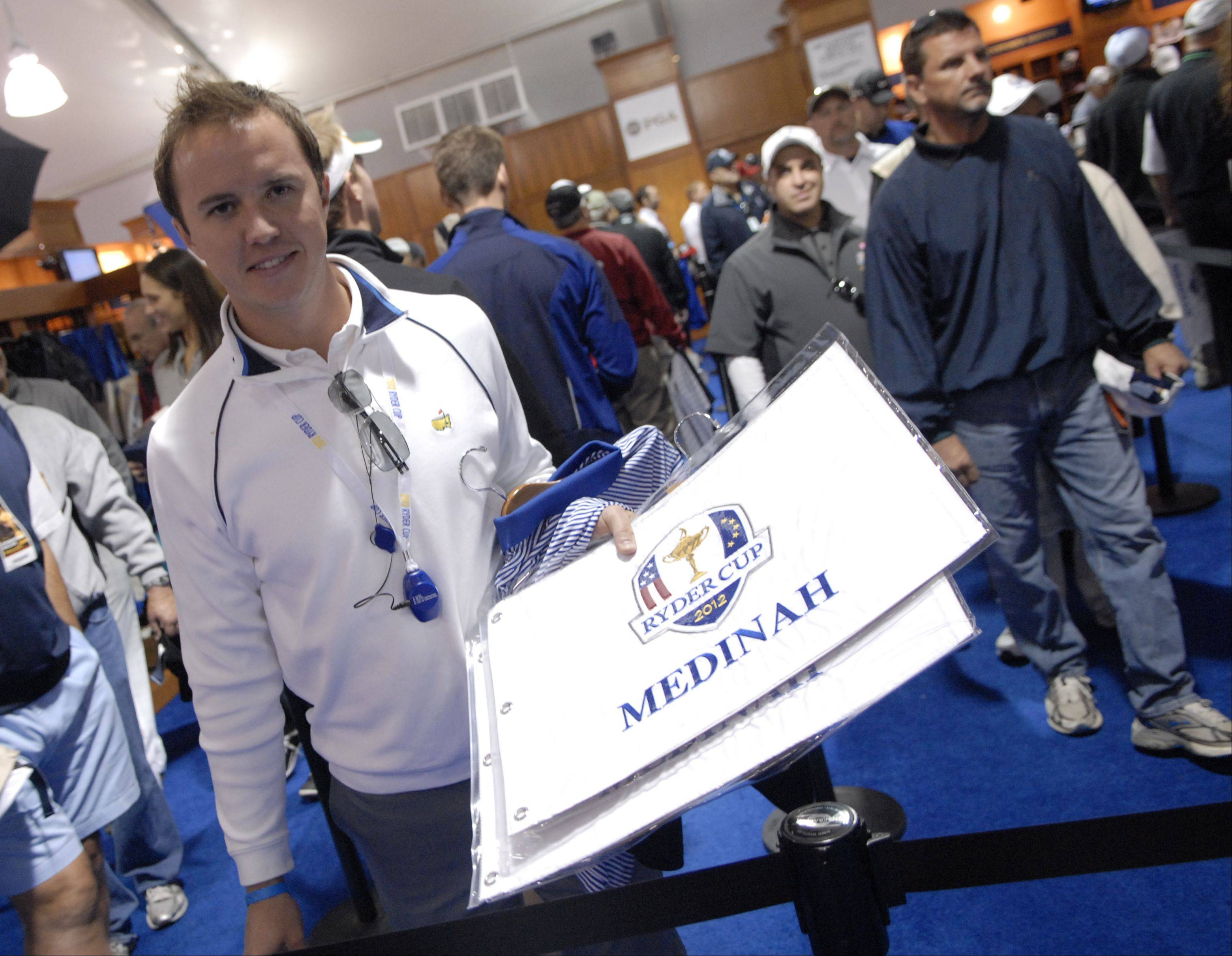 Dan Scalia of Chicago bought roughly $200 of Ryder Cup merchandise Friday for clients, family and himself.