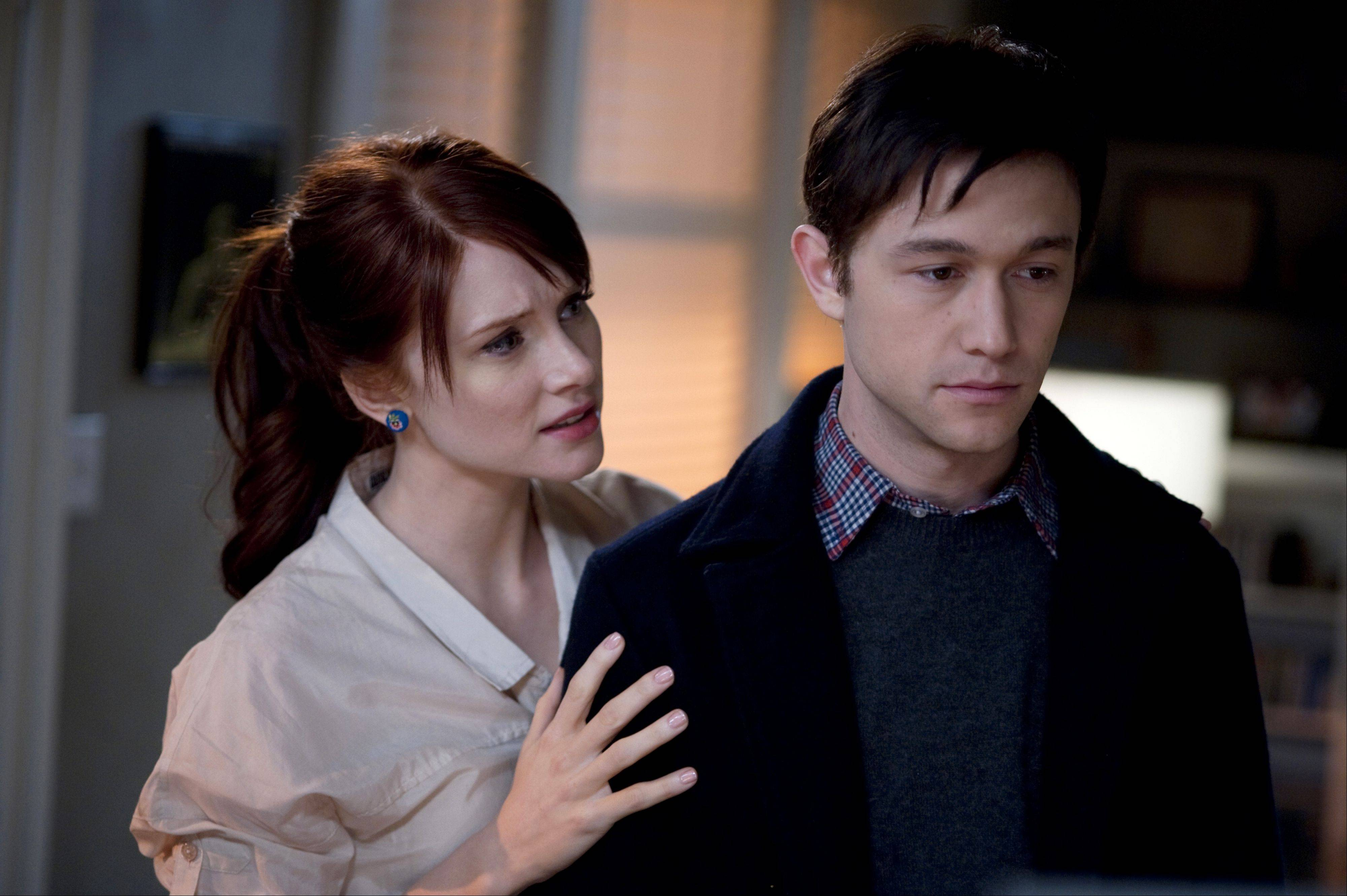 "This publicity film still shows Bryce Dallas Howard and Joseph Gordon-Levitt, in a scene from the movie ""50/50."""
