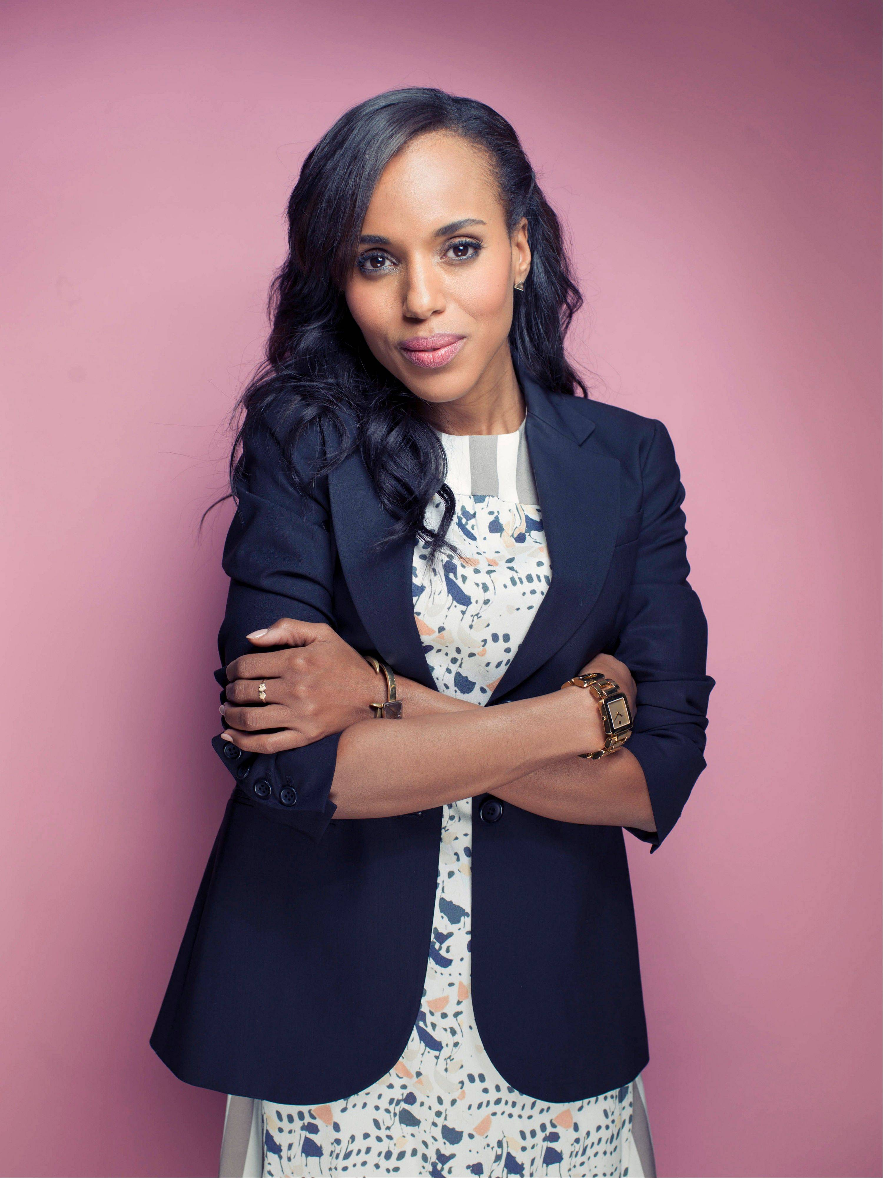 "Actress Kerry Washington stars in ""Scandal,"" airing at 9 p.m. Thursdays on ABC."