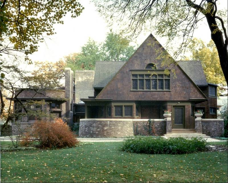 Frank lloyd wright right at home in oak park - Frank lloyd wright arquitectura ...