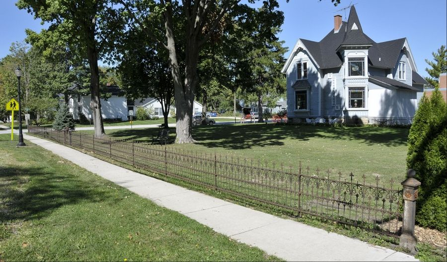 Ironworker Fred Gebbia salvaged and repaired an original wrought iron fence from the 1880s for a client in Wayne.