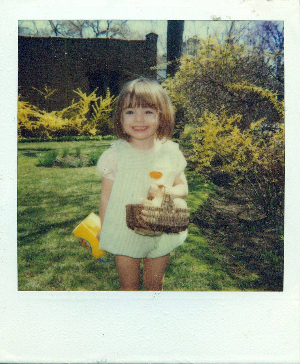 All smiles on this Easter egg hunt from her childhood, Leigh Stein of Lombard now wins praise for a writing style that combines humor with dark elements.