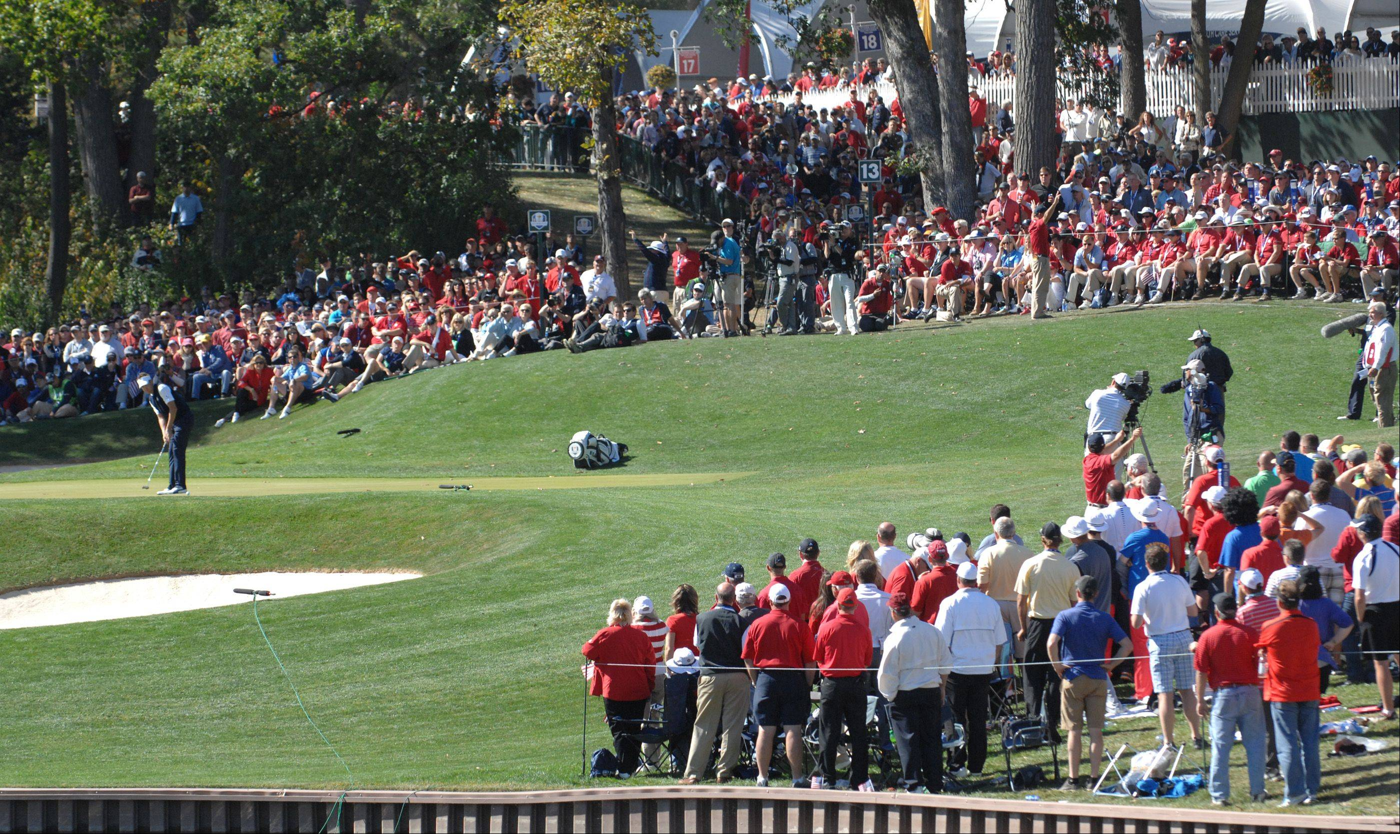 Sunday during the final day of the 2012 Ryder Cup at Medinah Country Club.