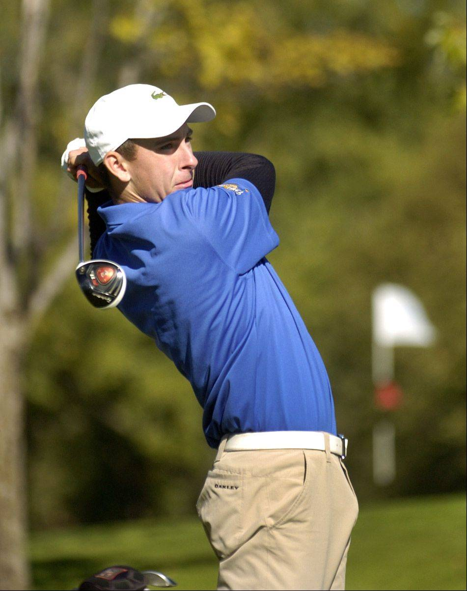 Wheeling's Jack Ferguson is among the competitors competing in Tuesday's boys golf regional at Old Orchard Country Club.
