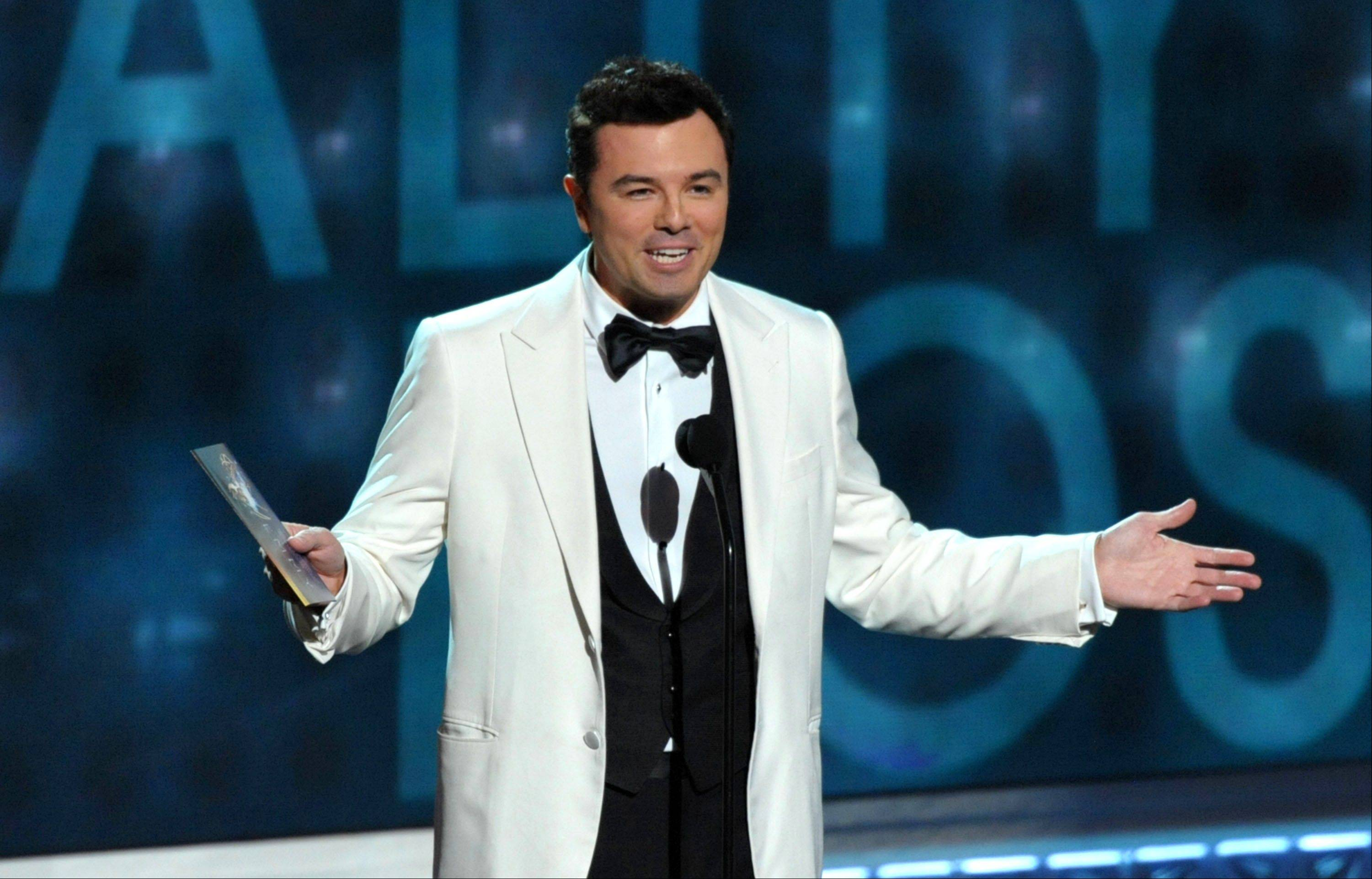 Seth MacFarlane, here presenting an award at the 64th Primetime Emmy Awards, will host the 85th Academy Awards on Sunday, Feb. 24, on ABC.