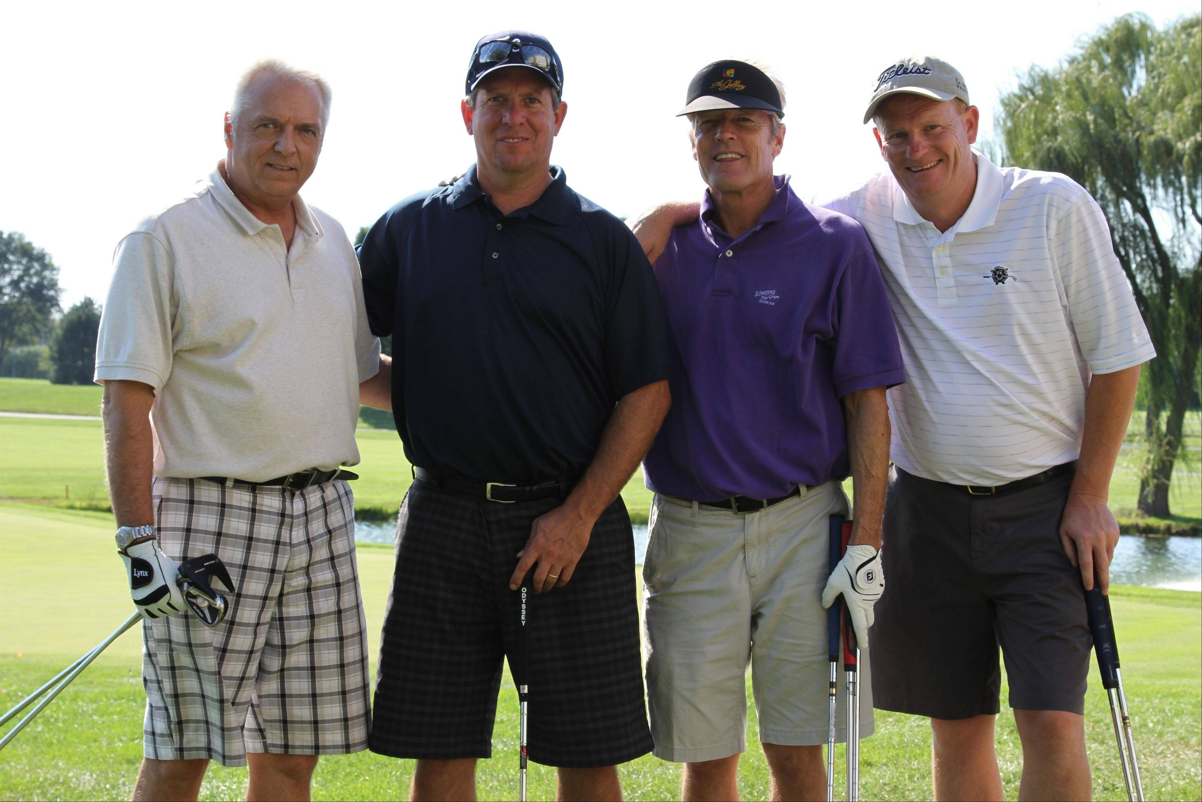 From left, Rick Perkel of Round Lake, Paul Schmidt of Casey, Paul Howard of Deerfield and Jim O'Connor Lake Bluff, winners of the National Kidney Foundation of Illinois' Kidney Care Classic.