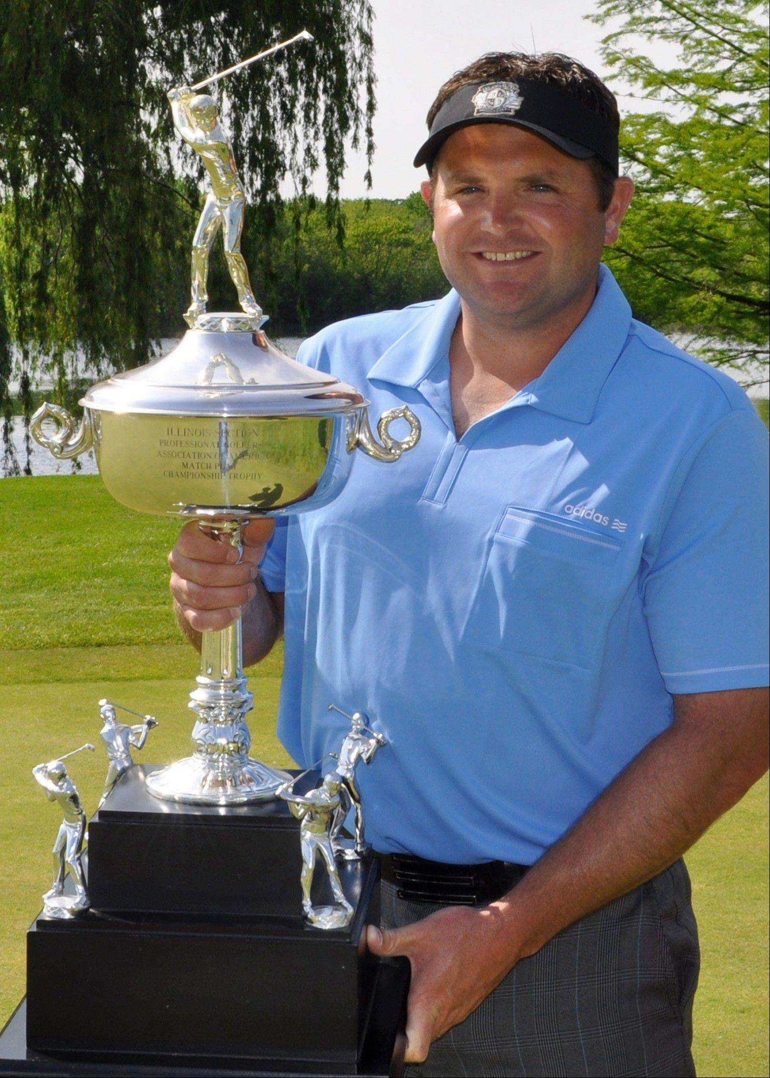 Curtis Malm, PGA assistant golf professional at St. Charles Country Club, captured the 61st Illinois PGA Match Play Championship trophy earlier this season at at Kemper Lakes Golf Club.