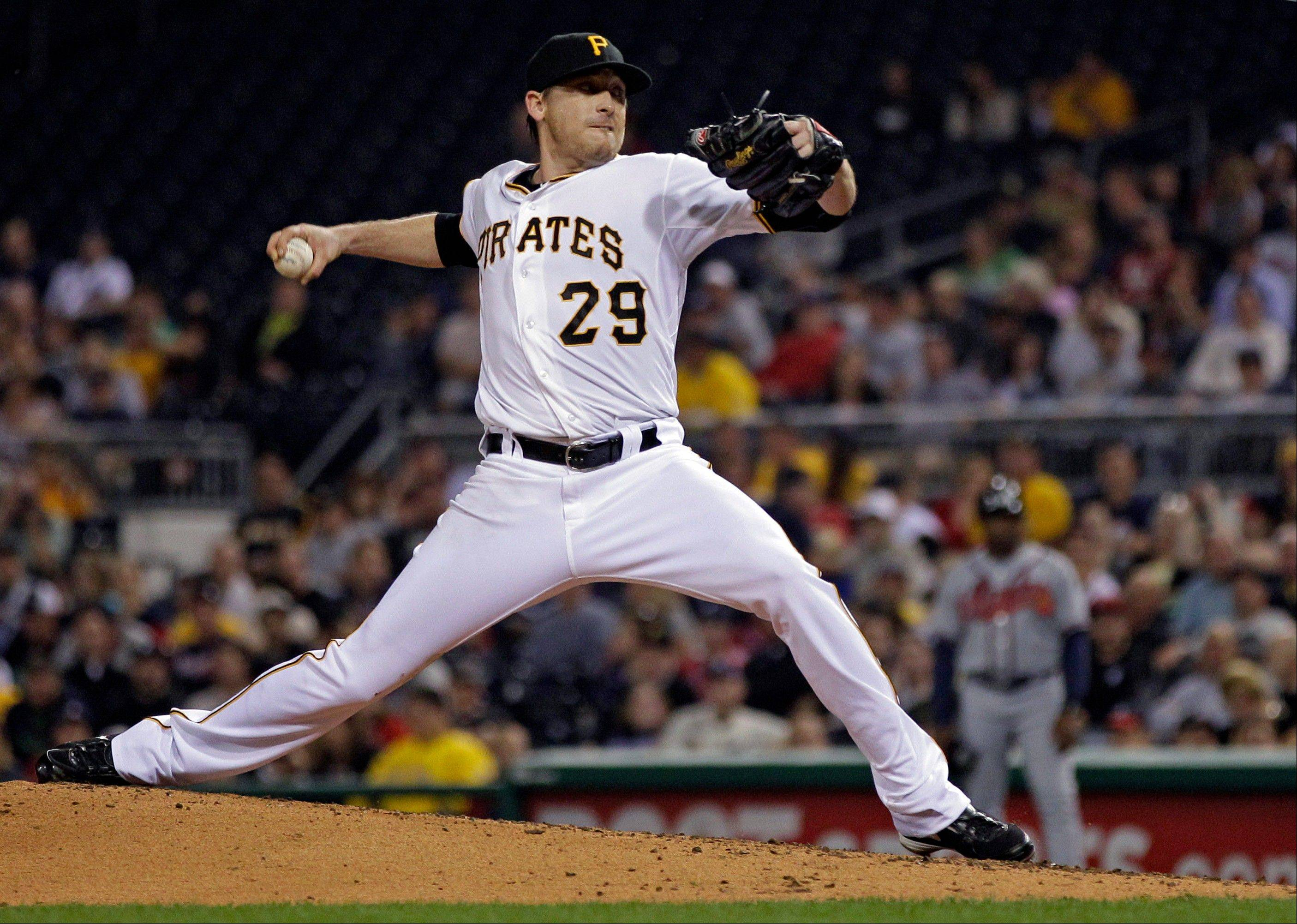 Pirates starting pitcher Kevin Correia struck out five Tuesday night at home against the Braves.