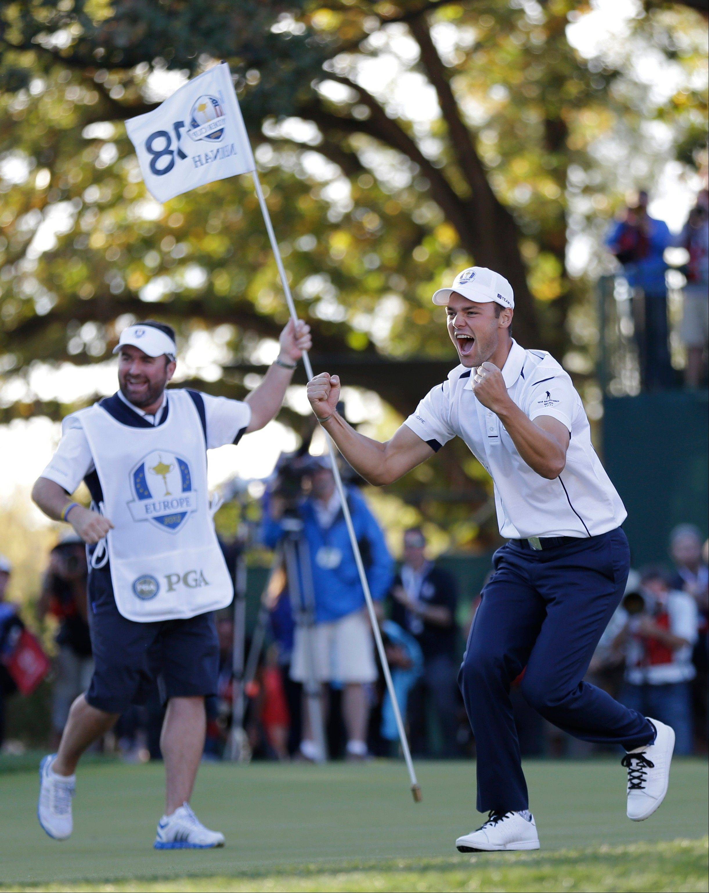 Europe's Martin Kaymer celebrating his Ryder Cup-winning putt Sunday was just one of the many memories for a special weekend at Medinah Country Club.
