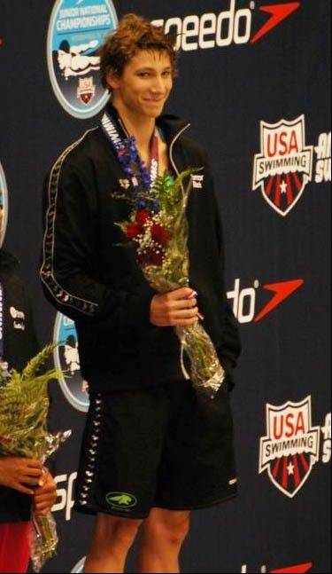 Connor Black accepts his awards at the Junior Nationals held this summer.