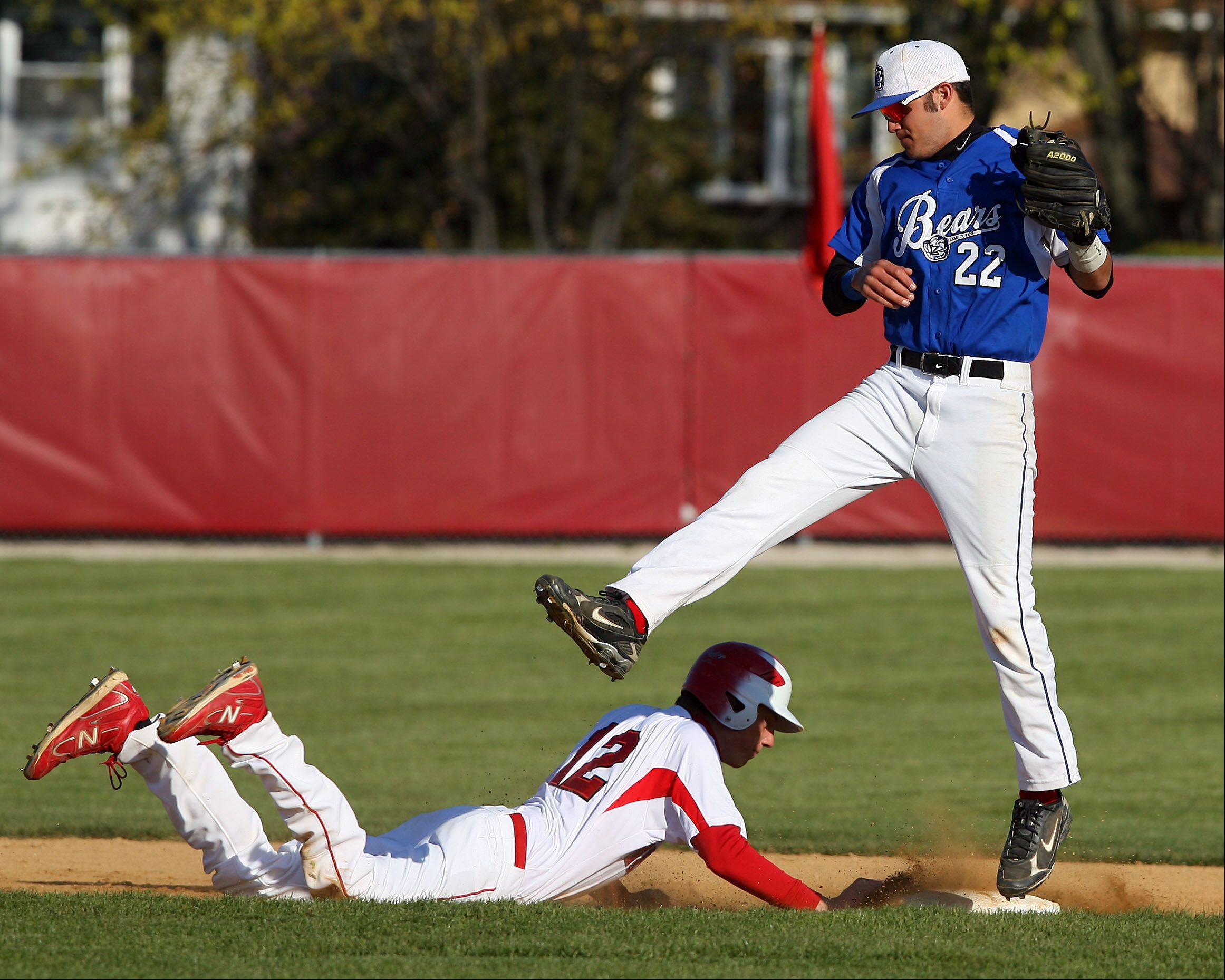 Lake Zurich shortstop Joey Pizzolato, right, will be taking the juco route next year. The senior has given a verbal commitment to the College of San Mateo in California.