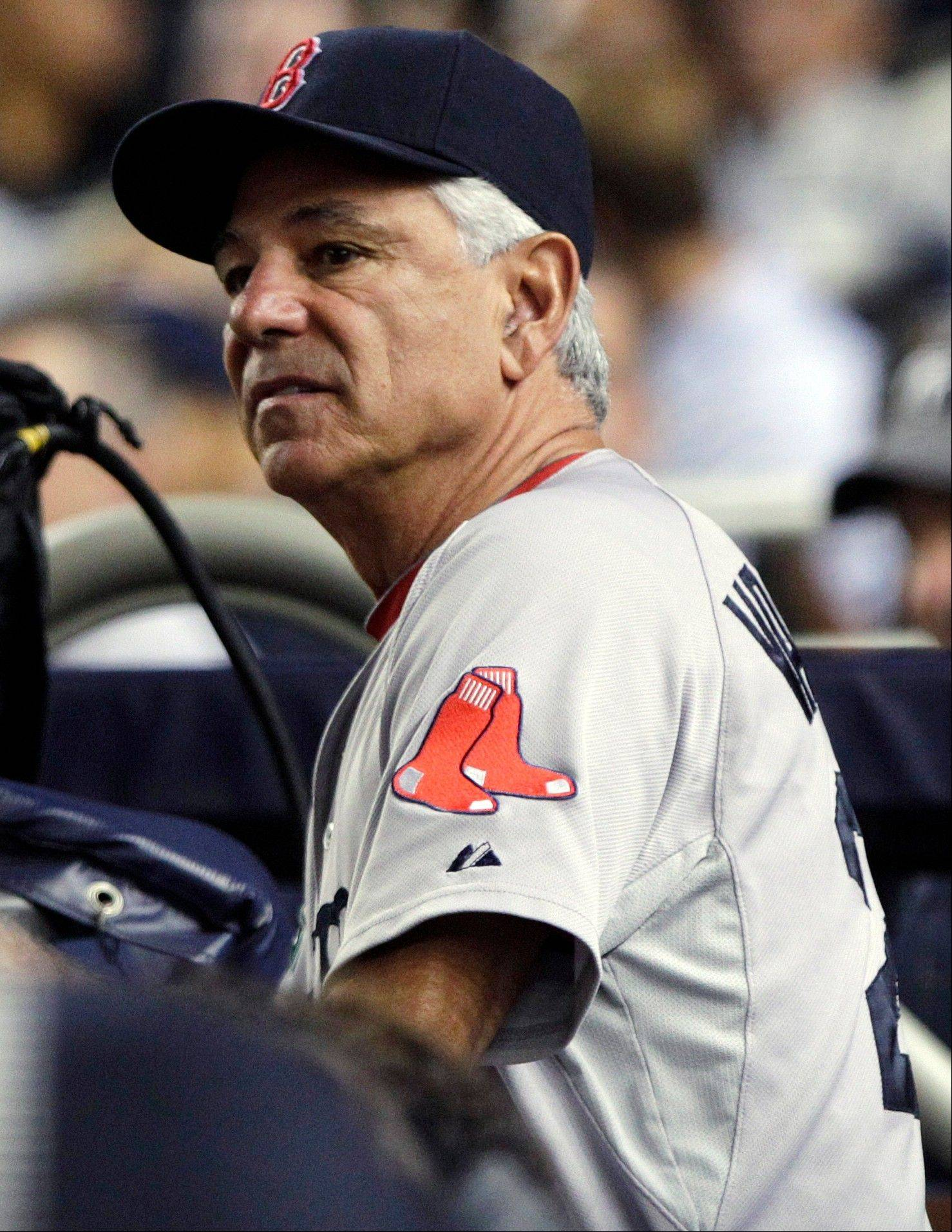 Boston Red Sox manager Bobby Valentine watches his team play the New York Yankees on Wednesday in New York.