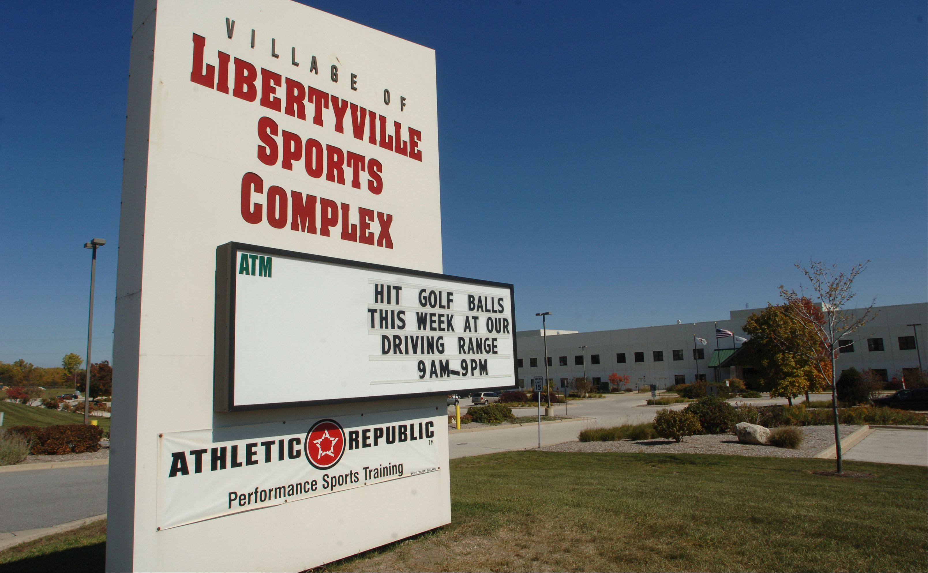 Naming rights for the Libertyville Sports Complex at Route 45 and Peterson Road in Libertyville is now available.