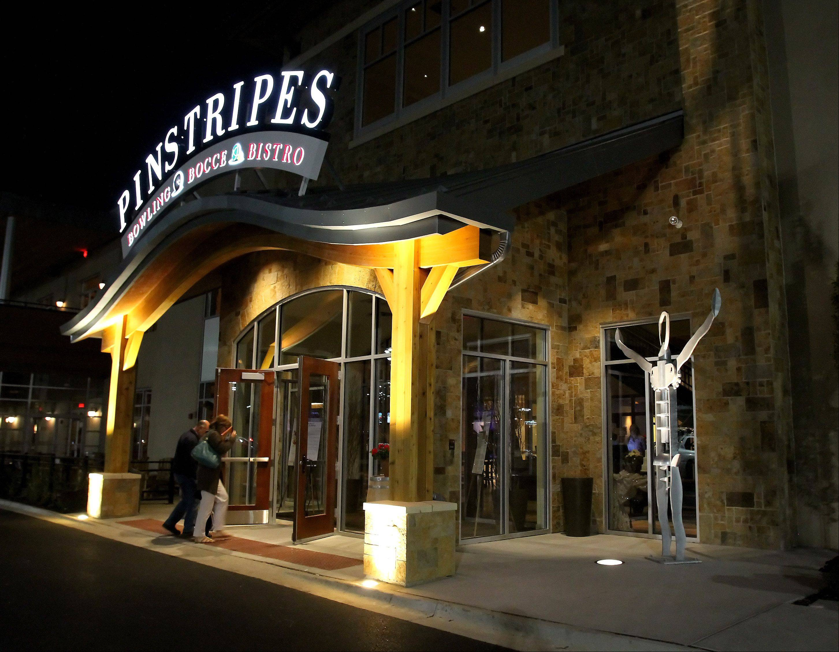 Pinstripes is a popular bowling and bocce bistro in Oak Brook.