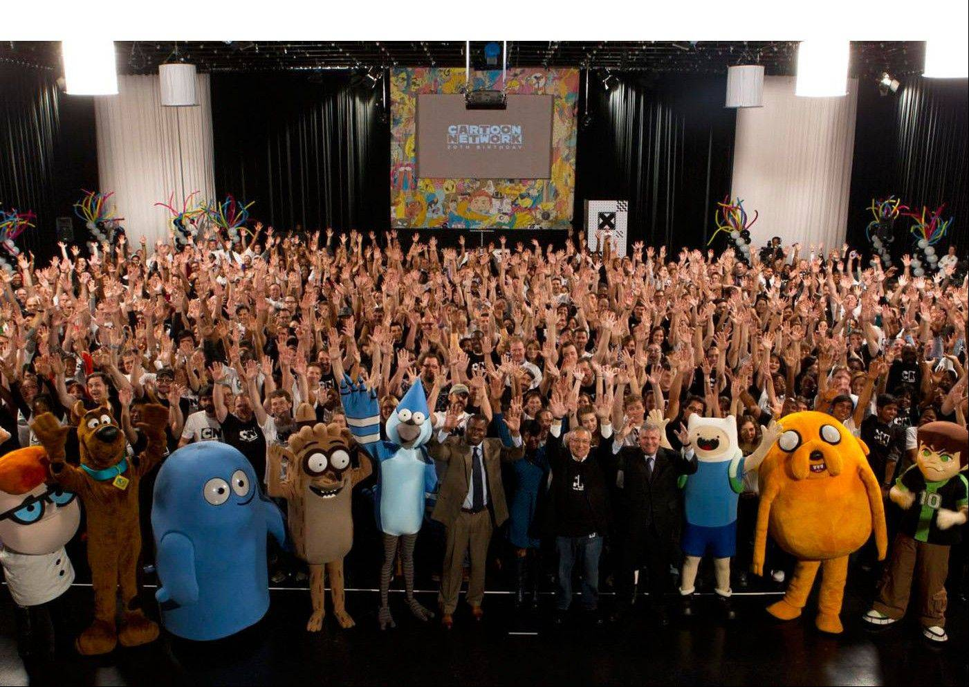 Beloved cartoon characters over the last 20 years celebrate Cartoon Network's 20th Birthday.