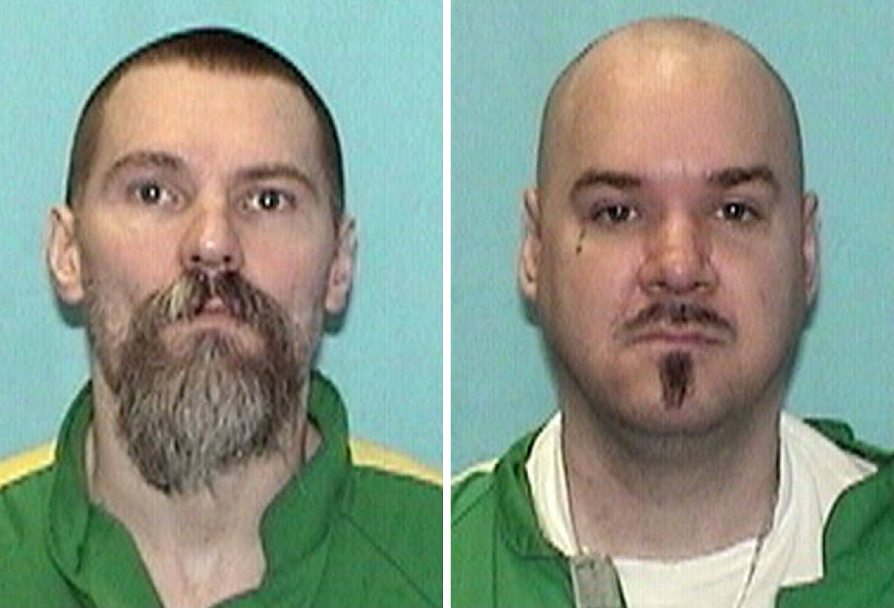 This combination photo provided by The Illinois Department of Corrections shows inmates Gregory Rhodes, left, and Robert Boyd, right, who are among the more than 100 inmates that could be transferred from the high-security Tamms prison to Pontiac. Boyd and Rhodes were both shipped to Tamms after getting in trouble at Pontiac and though not moved yet, could be returned to the very place where their troubles began.