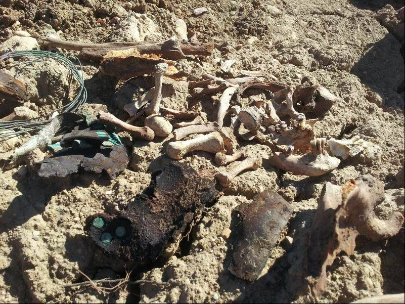 A West Chicago woman discovered the skeletal remains of a body estimated to be 100 years old in a pile of dirt about two blocks from her home on Sept. 24. Police determined that a maintenance worker accidentally dug up the remains of an unmarked grave in an Aurora cemetery and dumped the dirt and bones in a West Chicago lot.