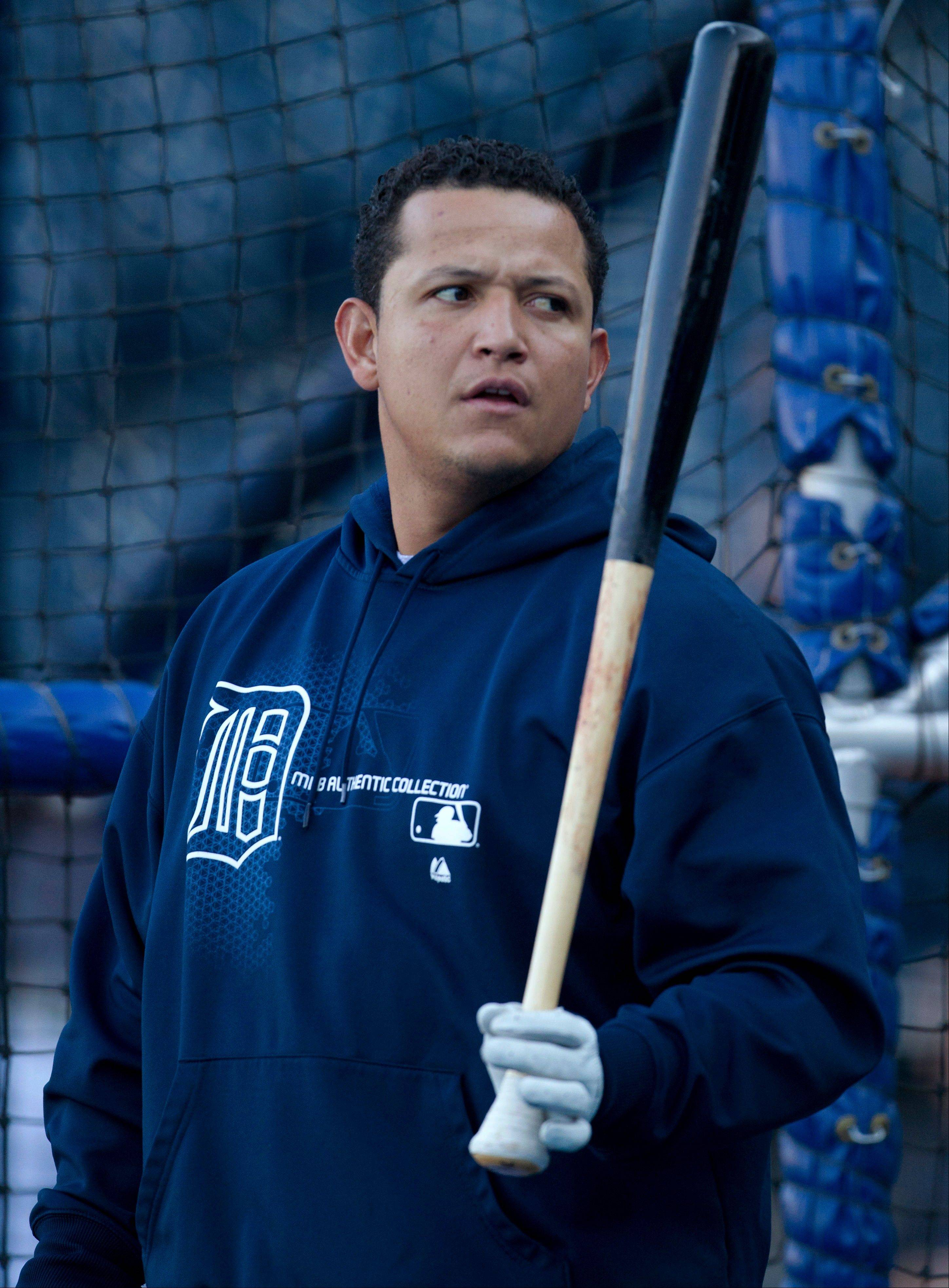 Detroit Tigers third baseman Miguel Cabrera is in the lineup for today's finale against the Kansas City Royals.