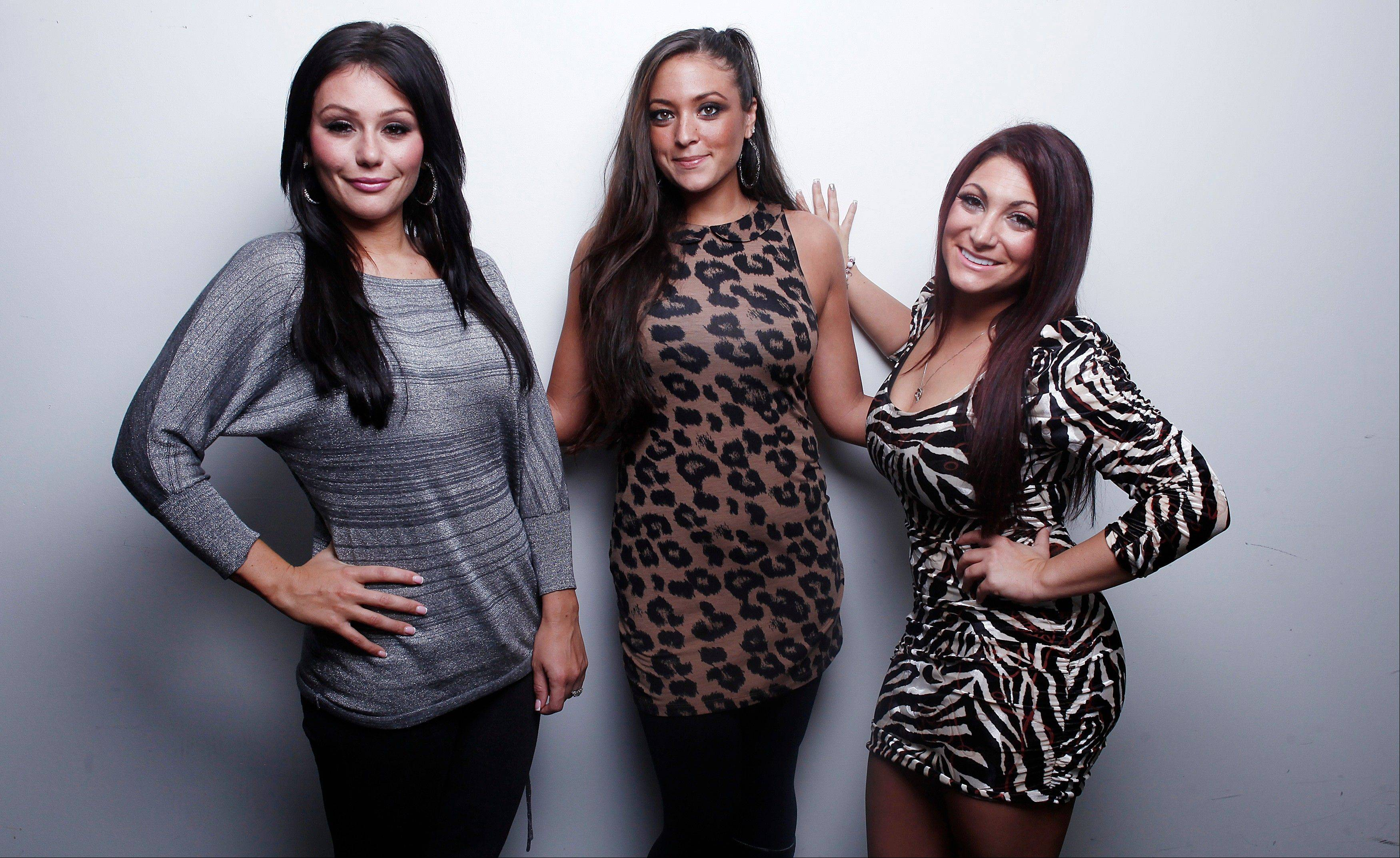 "With the last season of MTV's ""Jersey Shore"" premiering Thursday, Jenni ""JWOW"" Farley, left, Sammi ""Sweetheart"" Giancola and Deena Cortese are looking forward to the future."