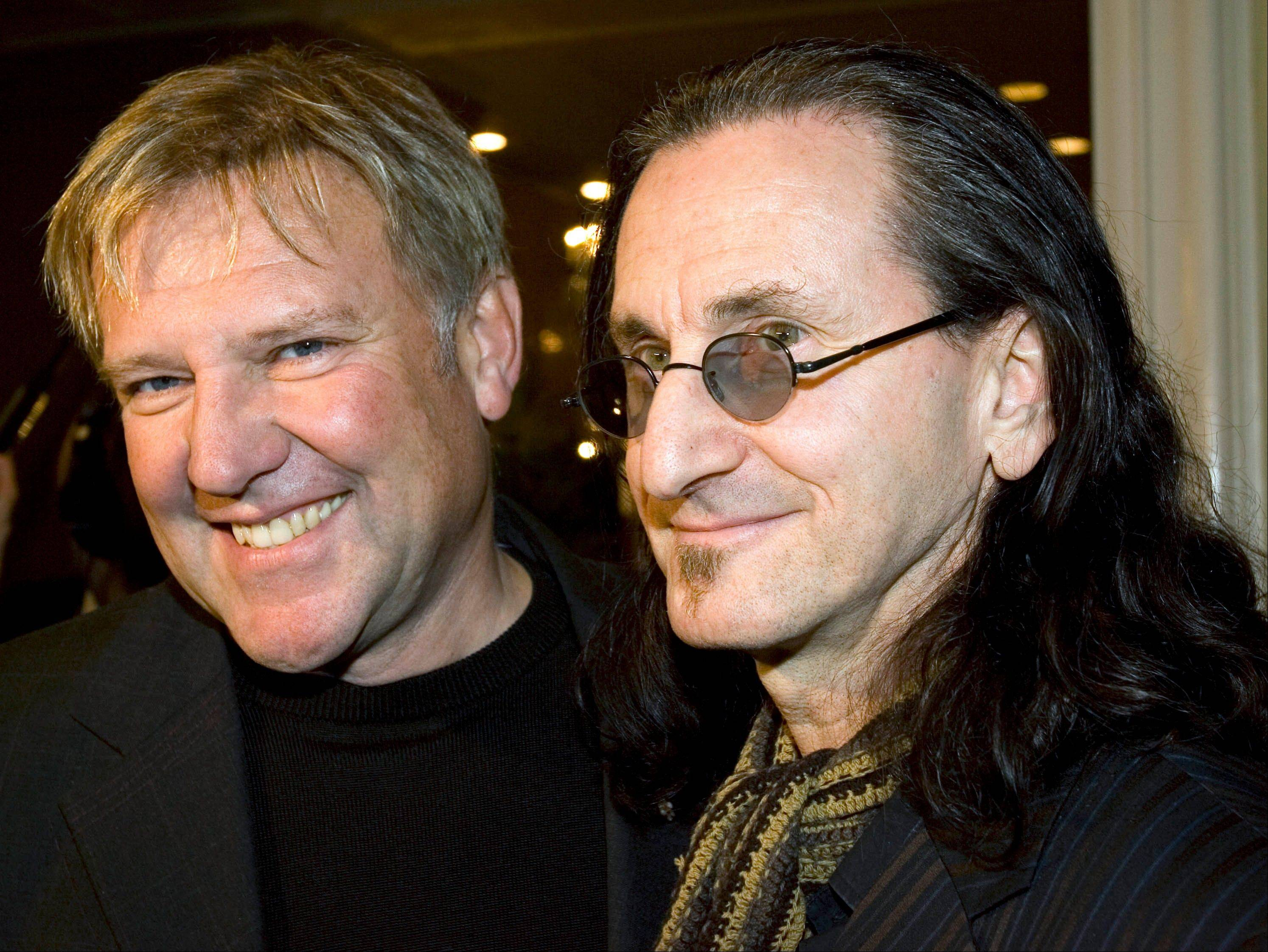 Rush — Alex Lifeson, left, and Geddy Lee — is among the group of first-time nominees for the Rock and Roll Hall of Fame.