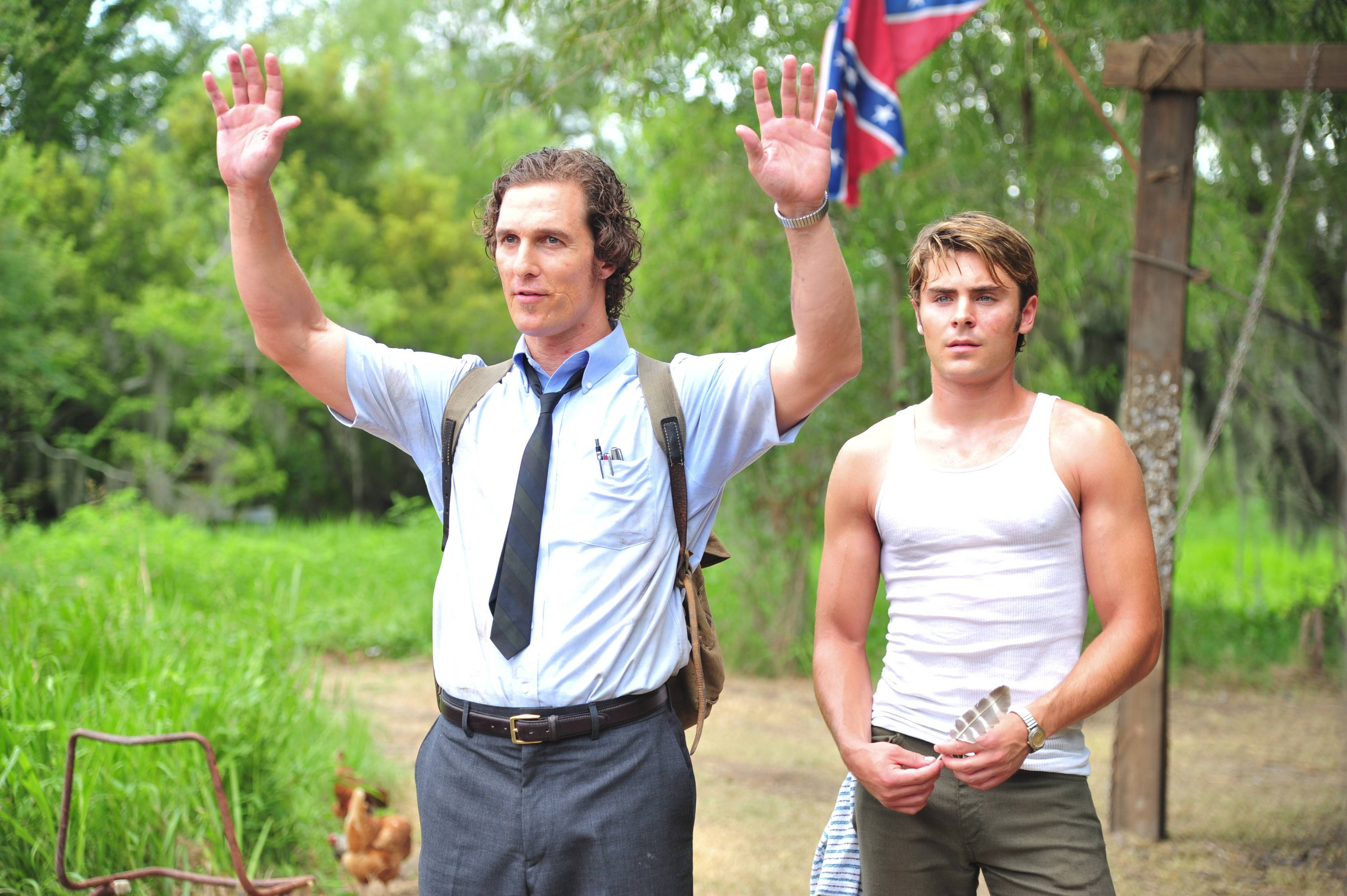 "Matthew McConaughey plays a Florida reporter and Zac Efron plays a studly paperboy in the sleazy and lurid crime drama ""The Paperboy."""