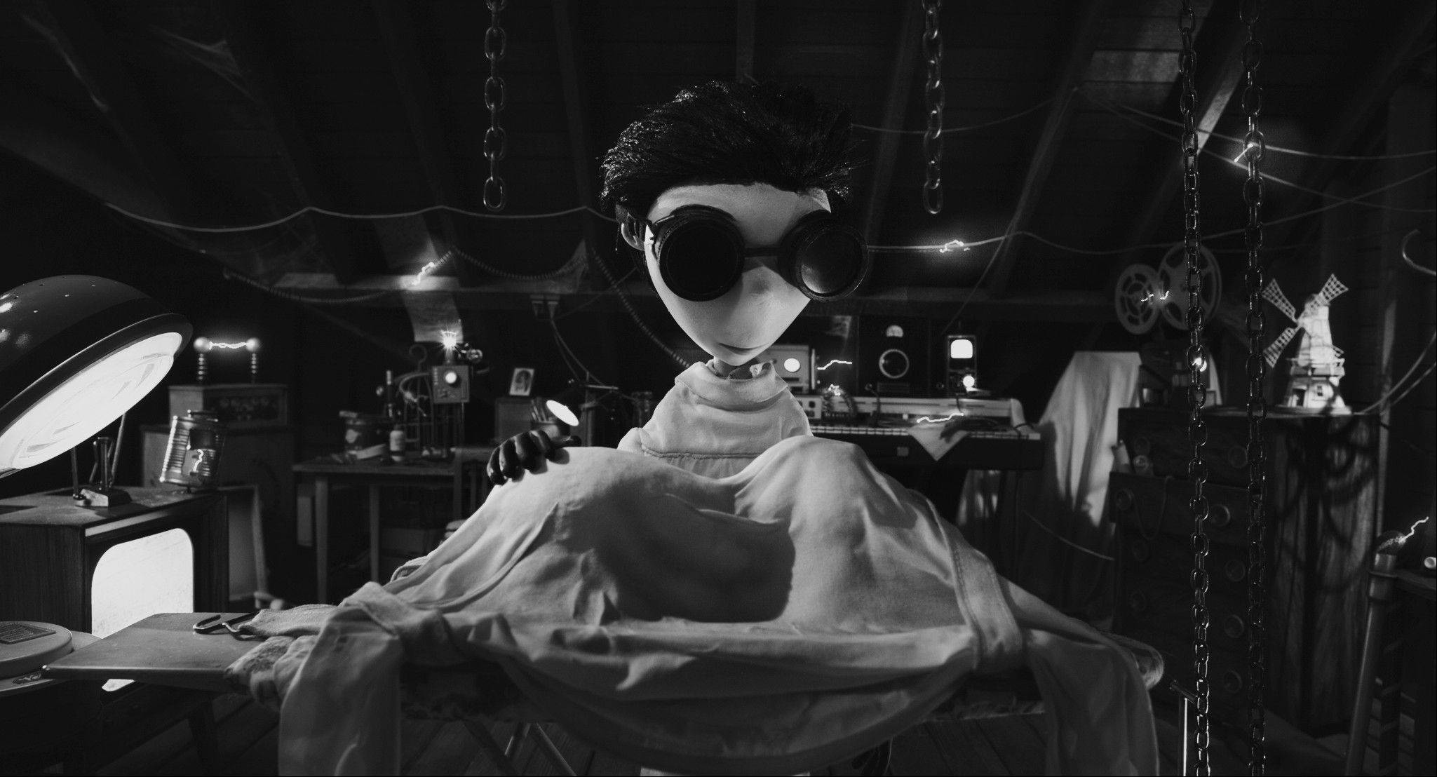 "A young science student named Victor decides to reanimate his dead dog Sparky in Tim Burton's ""Frankenweenie."""