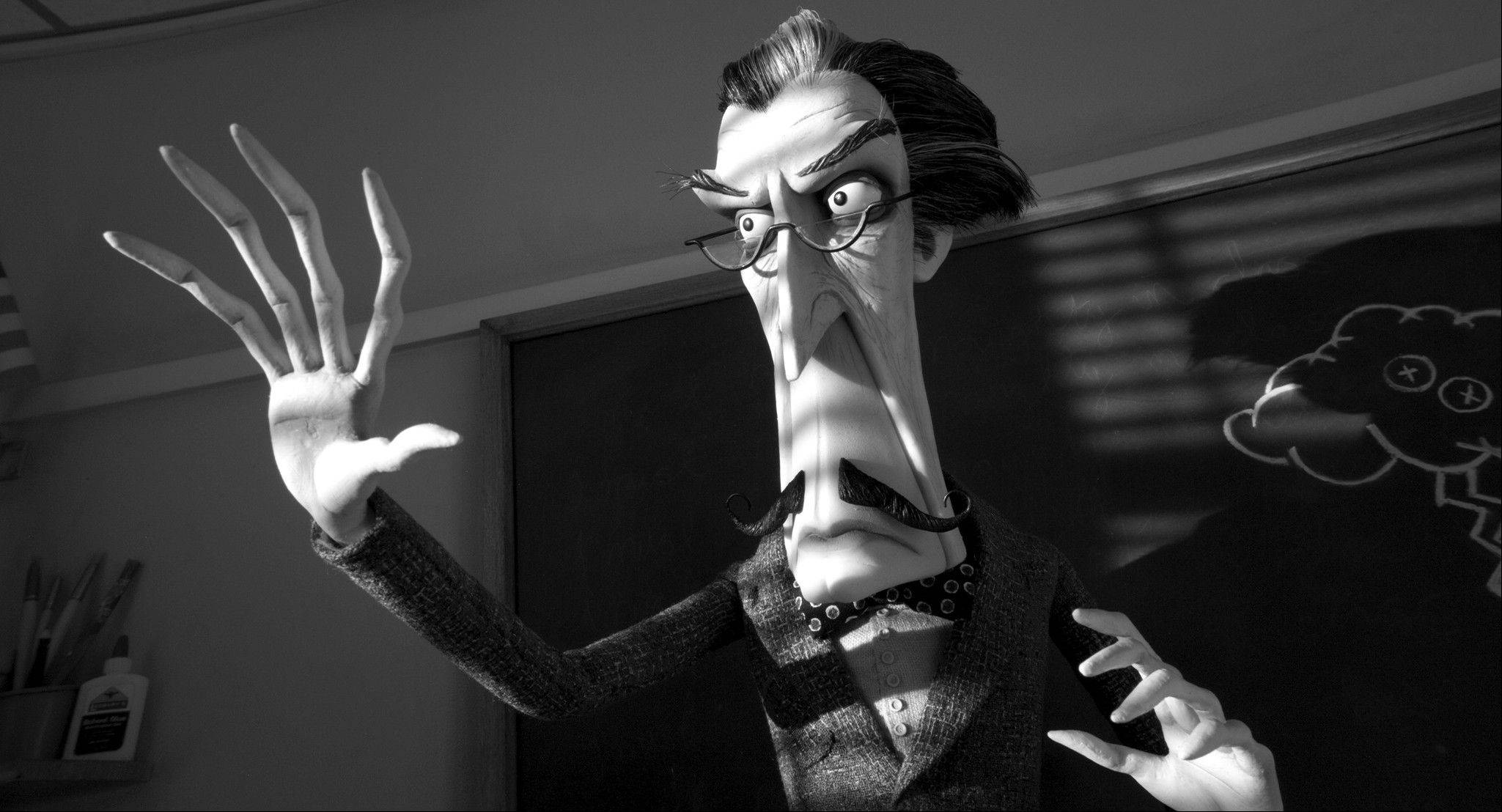 "A science teacher (voiced by Martin Landau) becomes a creepy liability for the New Holland school system in Tim Burton's ""Frankenweenie,"" a feature expansion of his original animated short film."