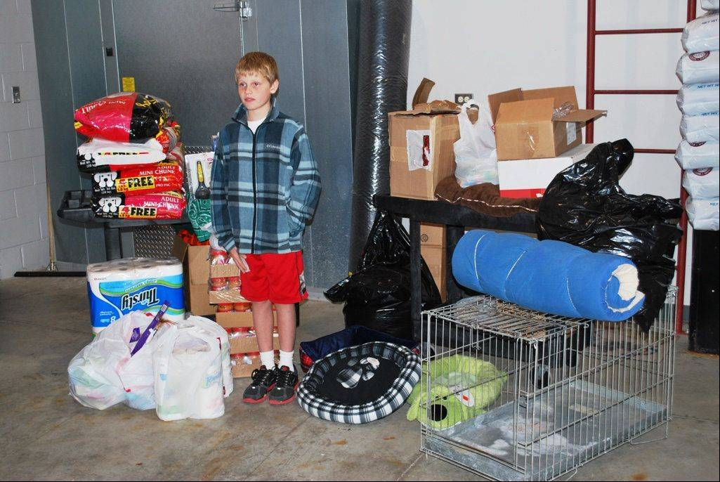 Adam Blackmore and his donations to Kane County Animal Control.