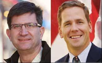 Democrat Brad Schneider, left, and Republican Robert Dold