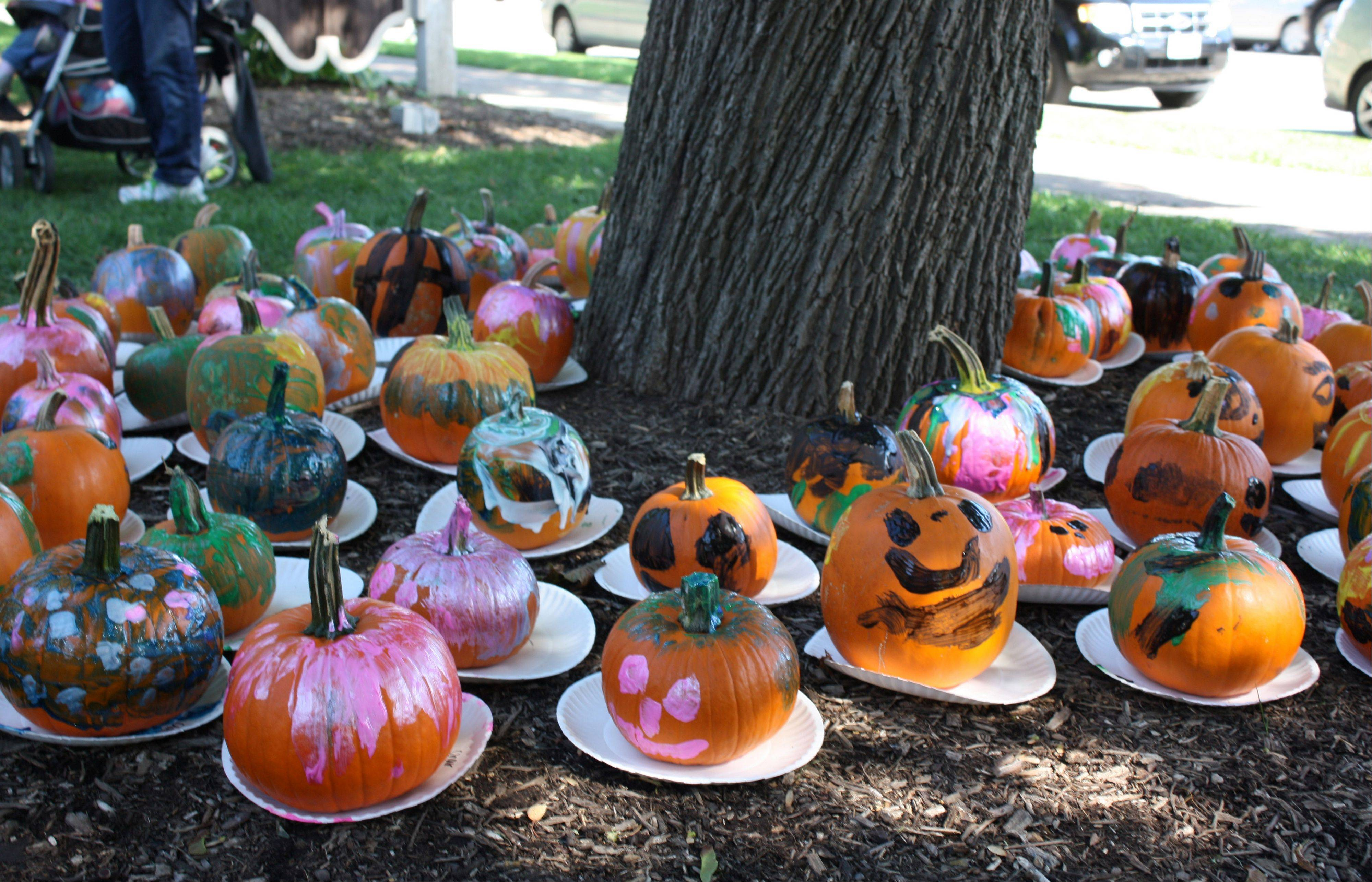 Painted pumpkins surround a tree at last year's PumpkinFest, presented by the Libertyville Junior Woman's Club. This year's event is Saturday, Oct. 13.